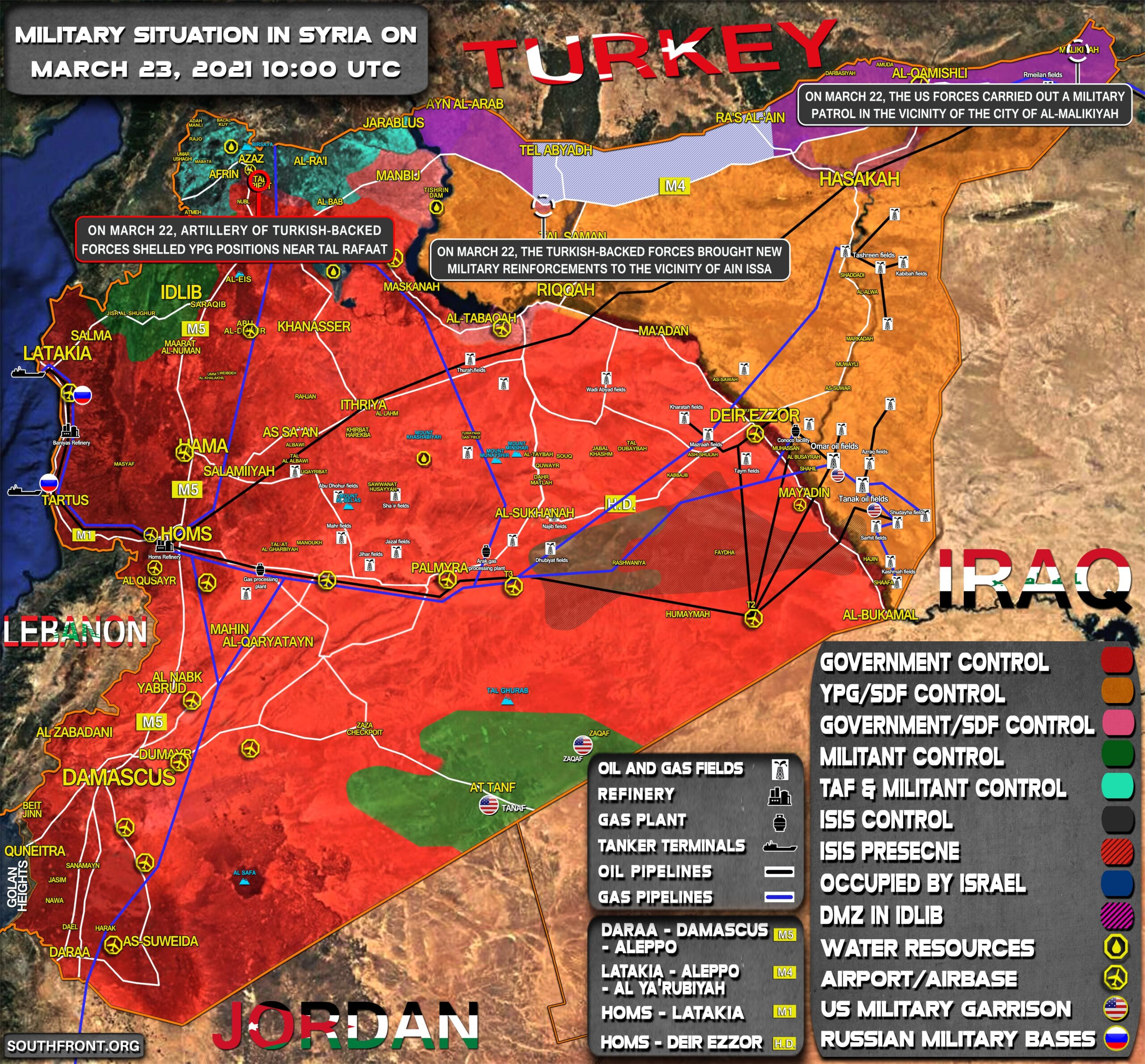 Military Situation In Syria On March 23, 2021 (Map Update)