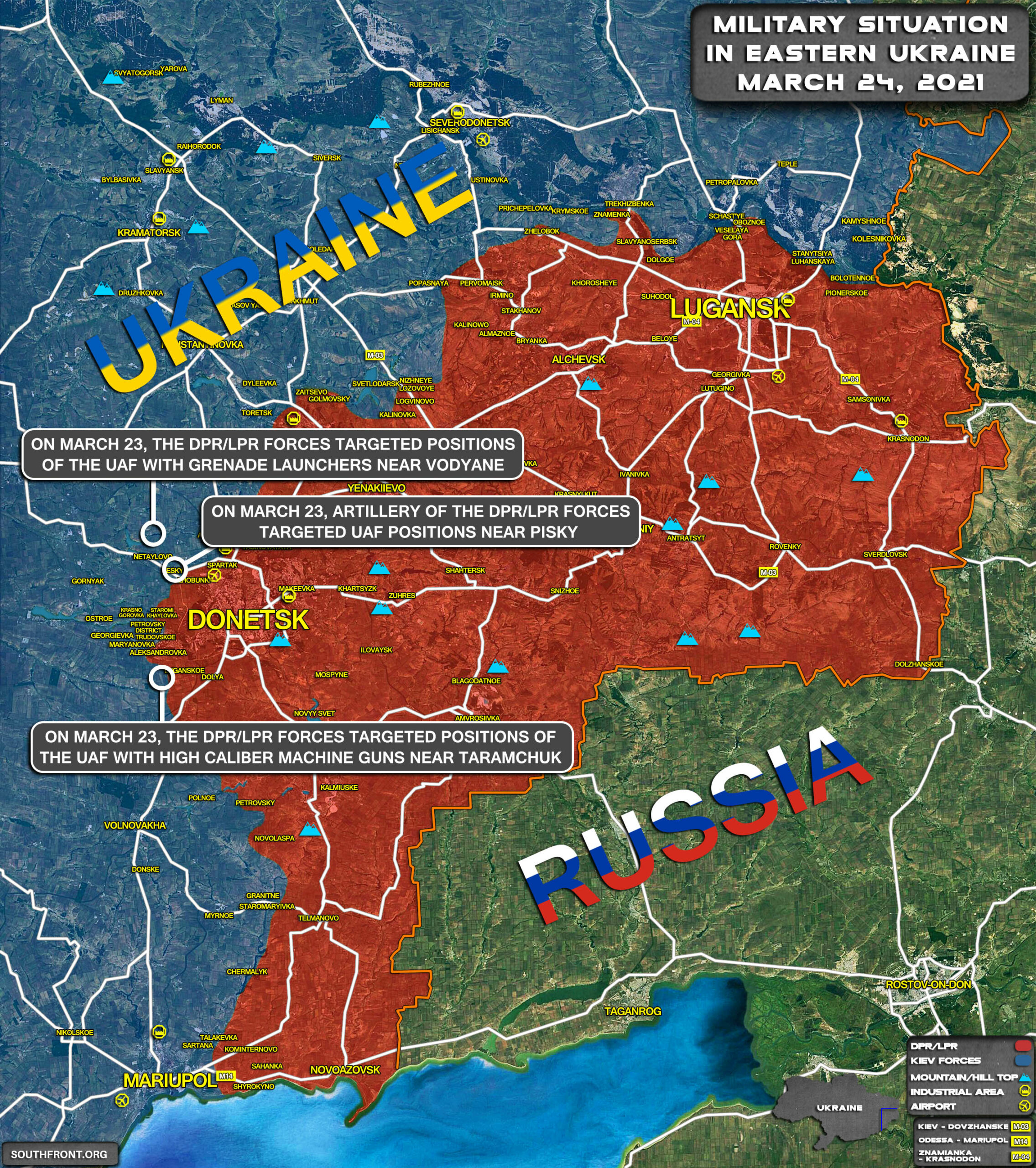 Military Situation In Eastern Ukraine On March 24, 2021 (Map Update)