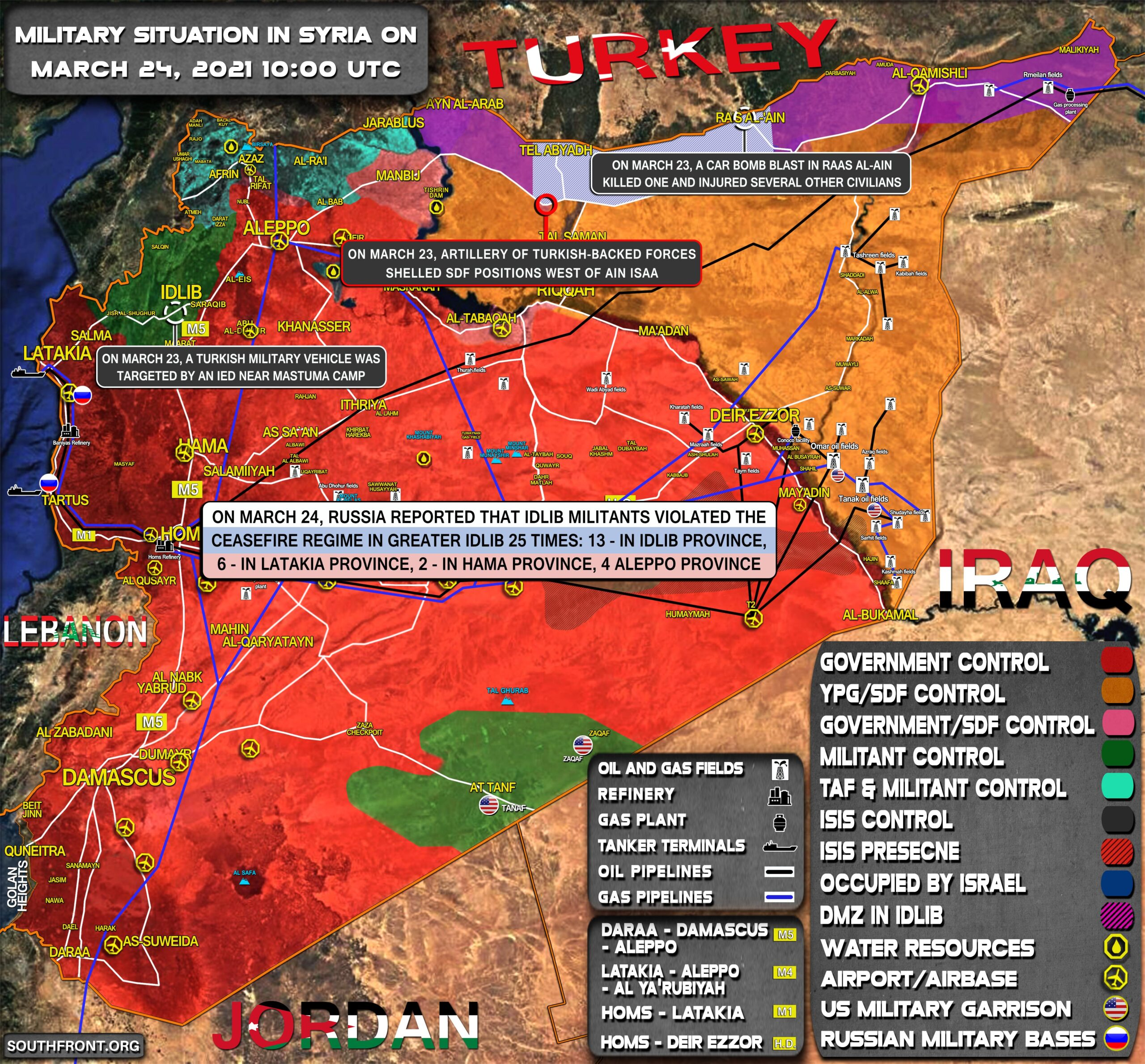 Military Situation In Syria On March 24, 2021 (Map Update)