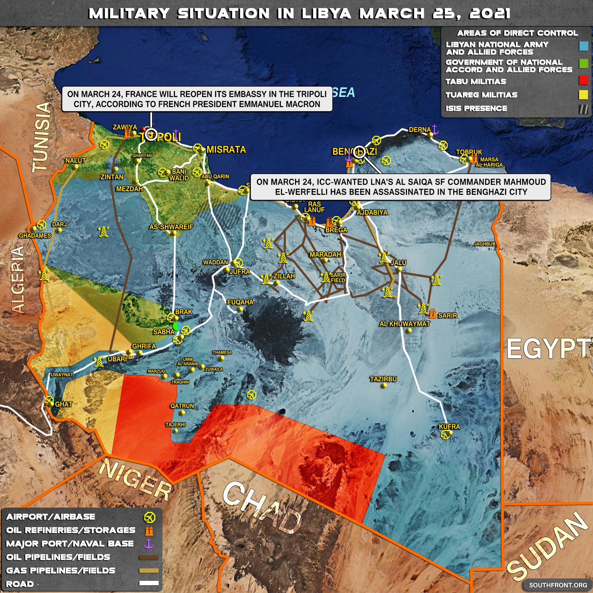 Military Situation In Libya On March 25, 2021 (Map Update)