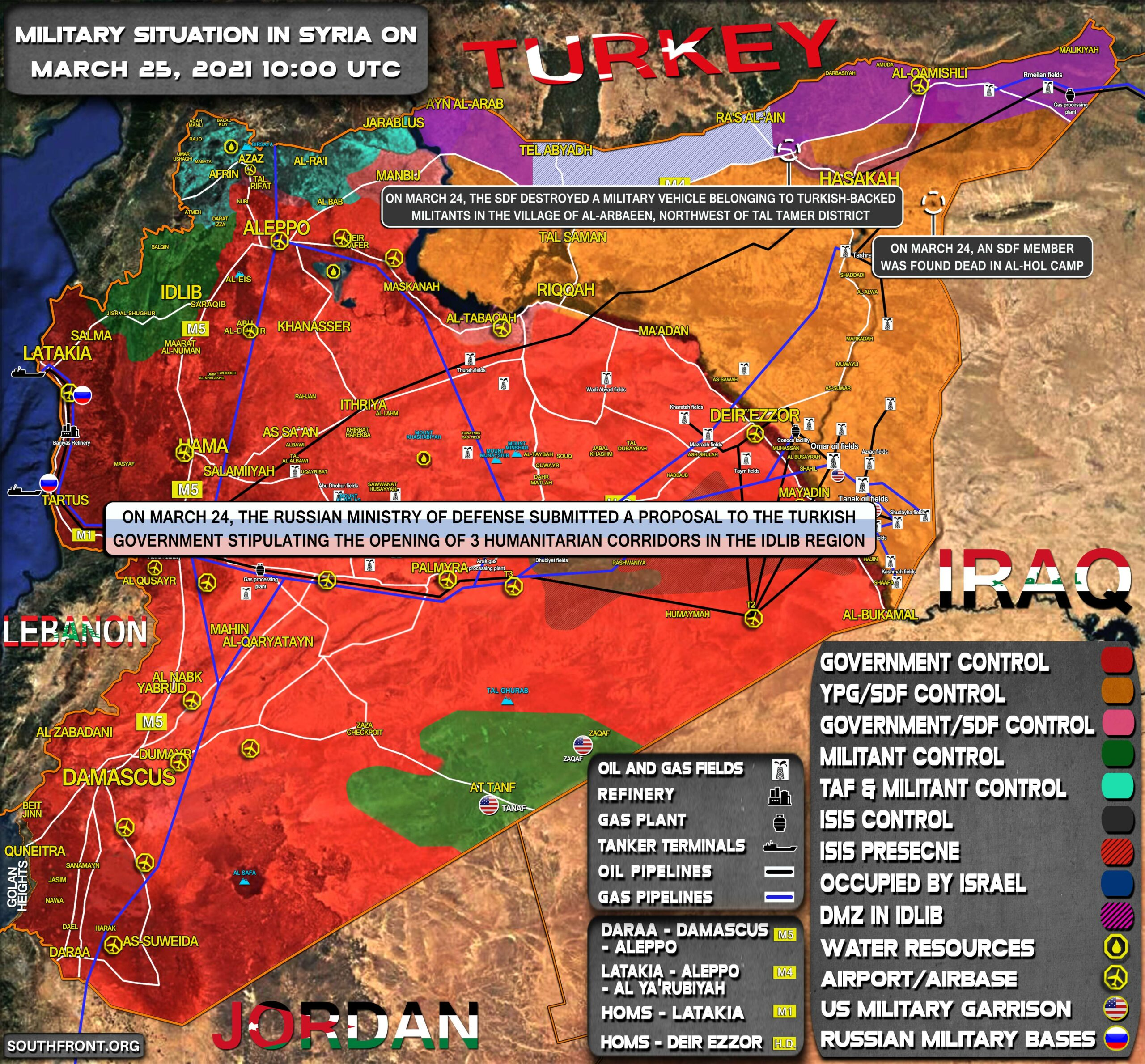 Military Situation In Syria On March 25, 2021 (Map Update)