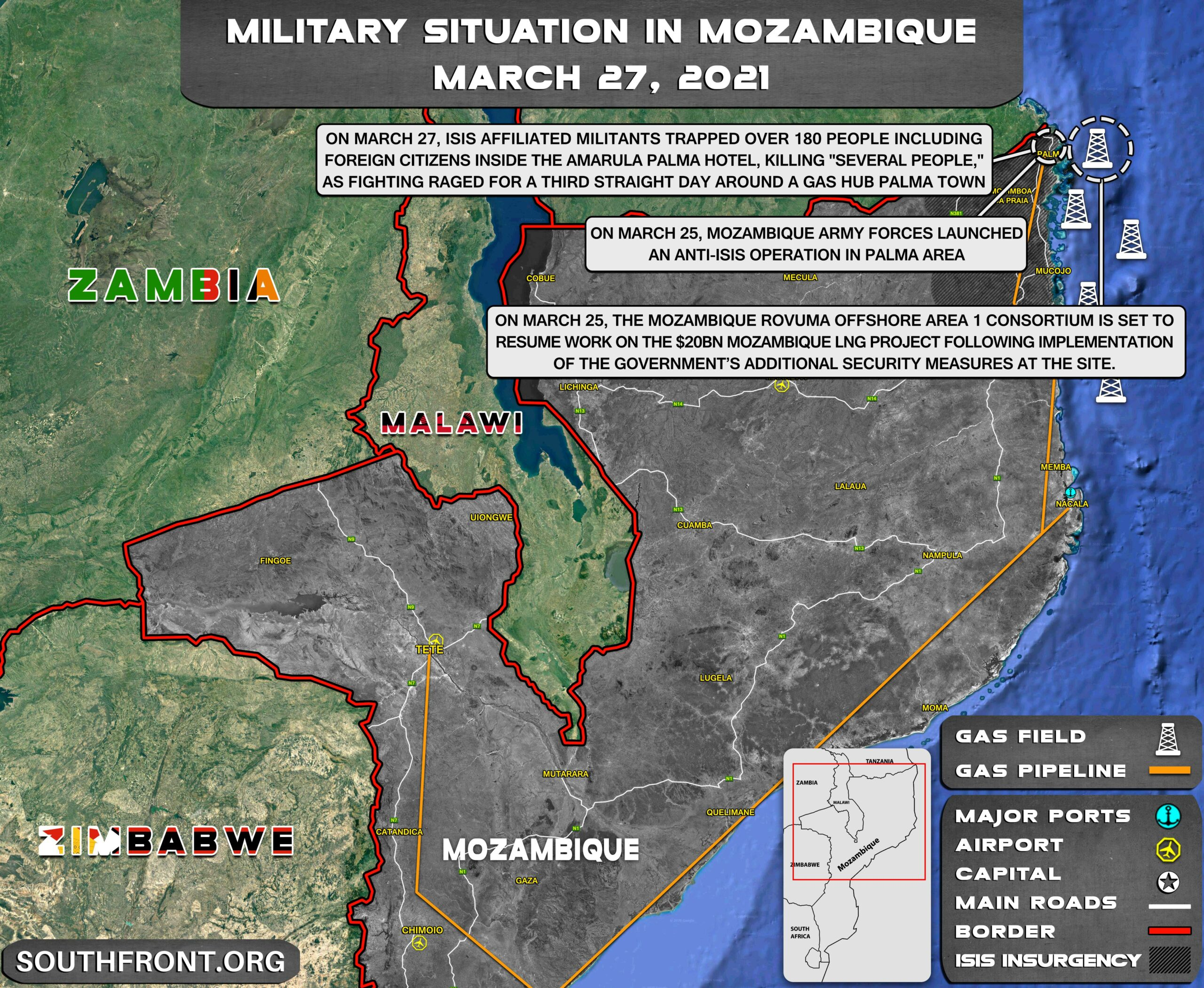ISIS Claimed Control Over Palma Town In Mozambique, French Total Suspends Its Work In The Region