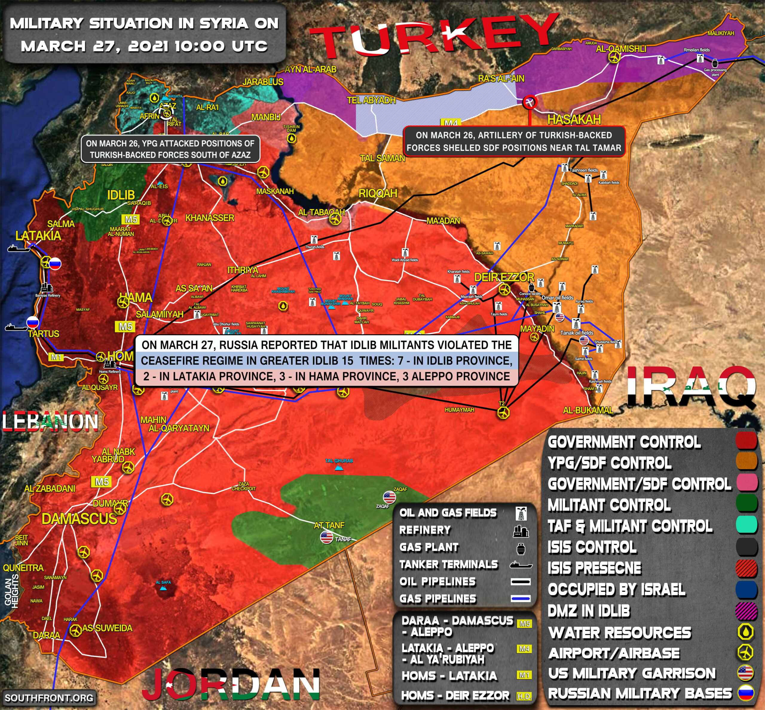Military Situation In Syria On March 27, 2021 (Map Update)