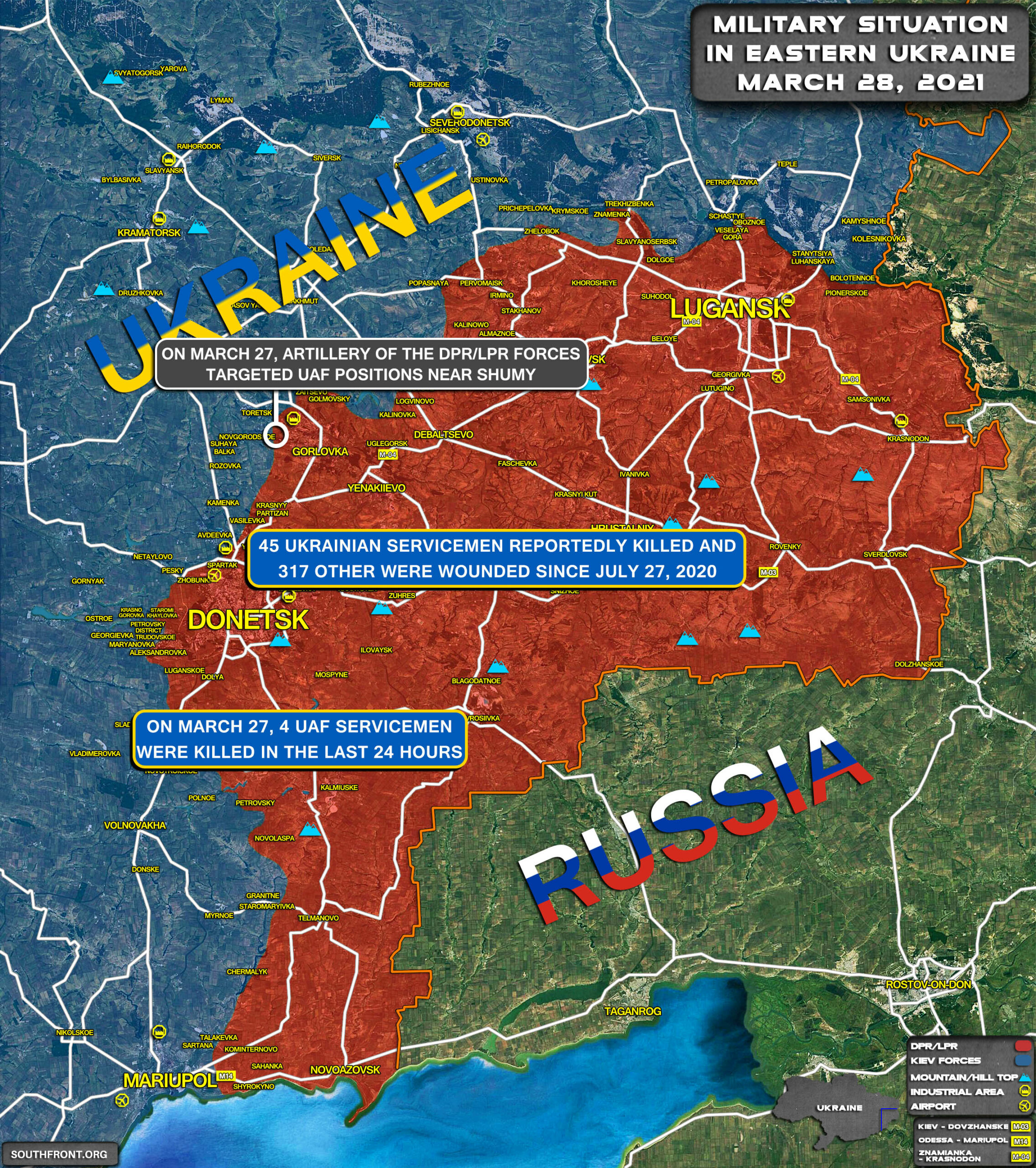 Military Situation In Eastern Ukraine On March 28, 2021 (Map Update)