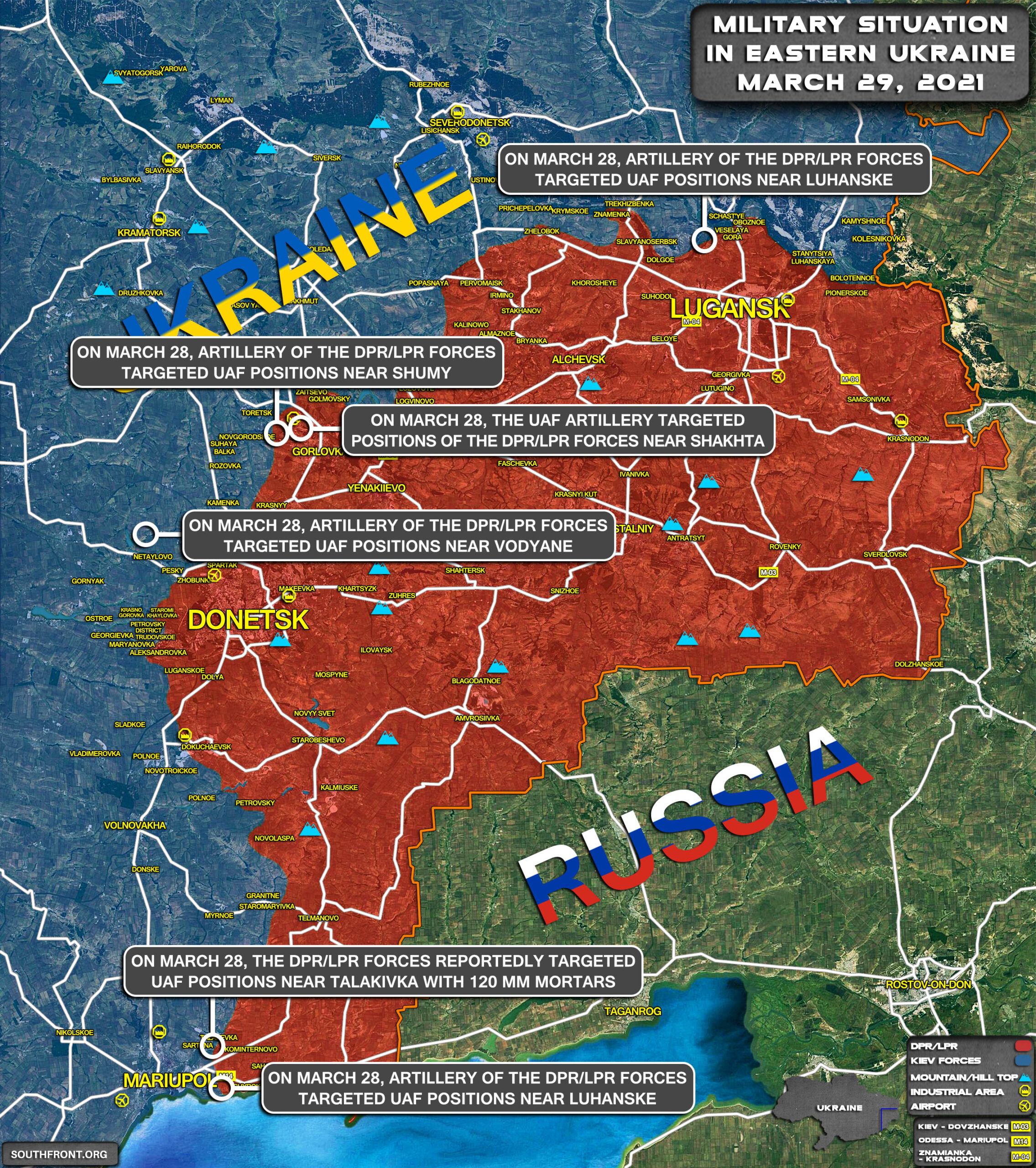 Military Situation In Eastern Ukraine On March 29, 2021 (Map Update)