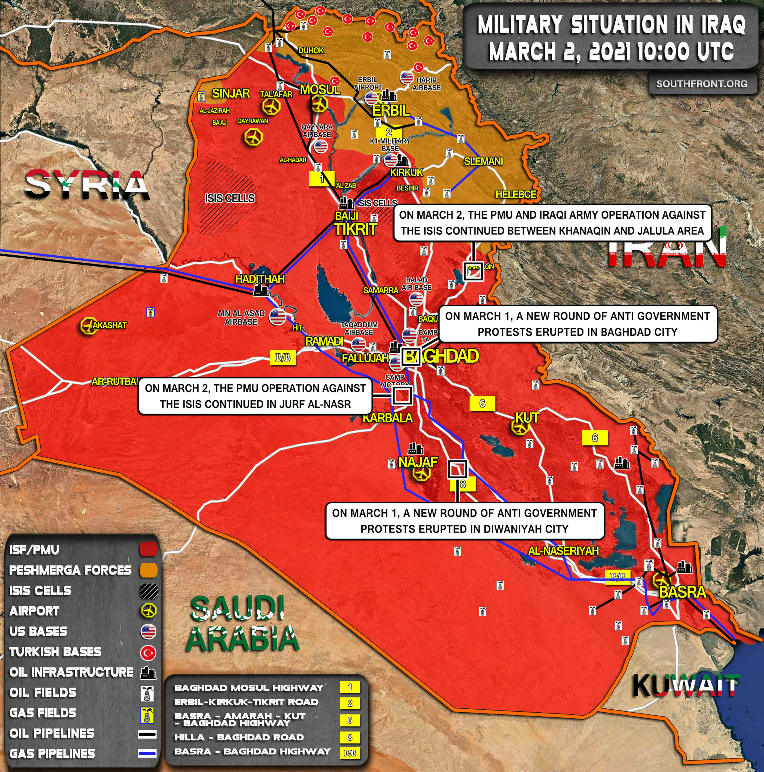 Military Situation In Iraq On March 2, 2021 (Map Update)