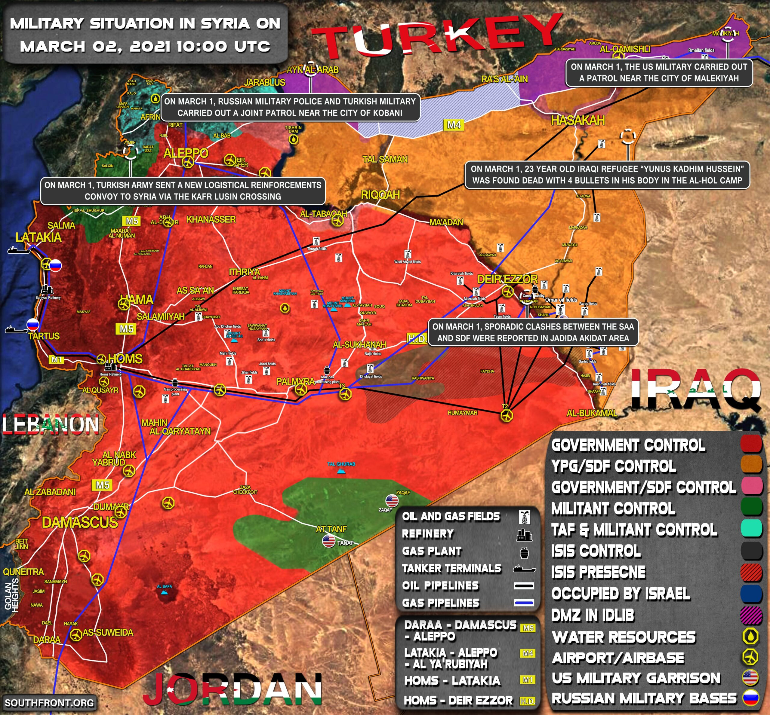 Military Situation In Syria On March 2, 2021 (Map Update)