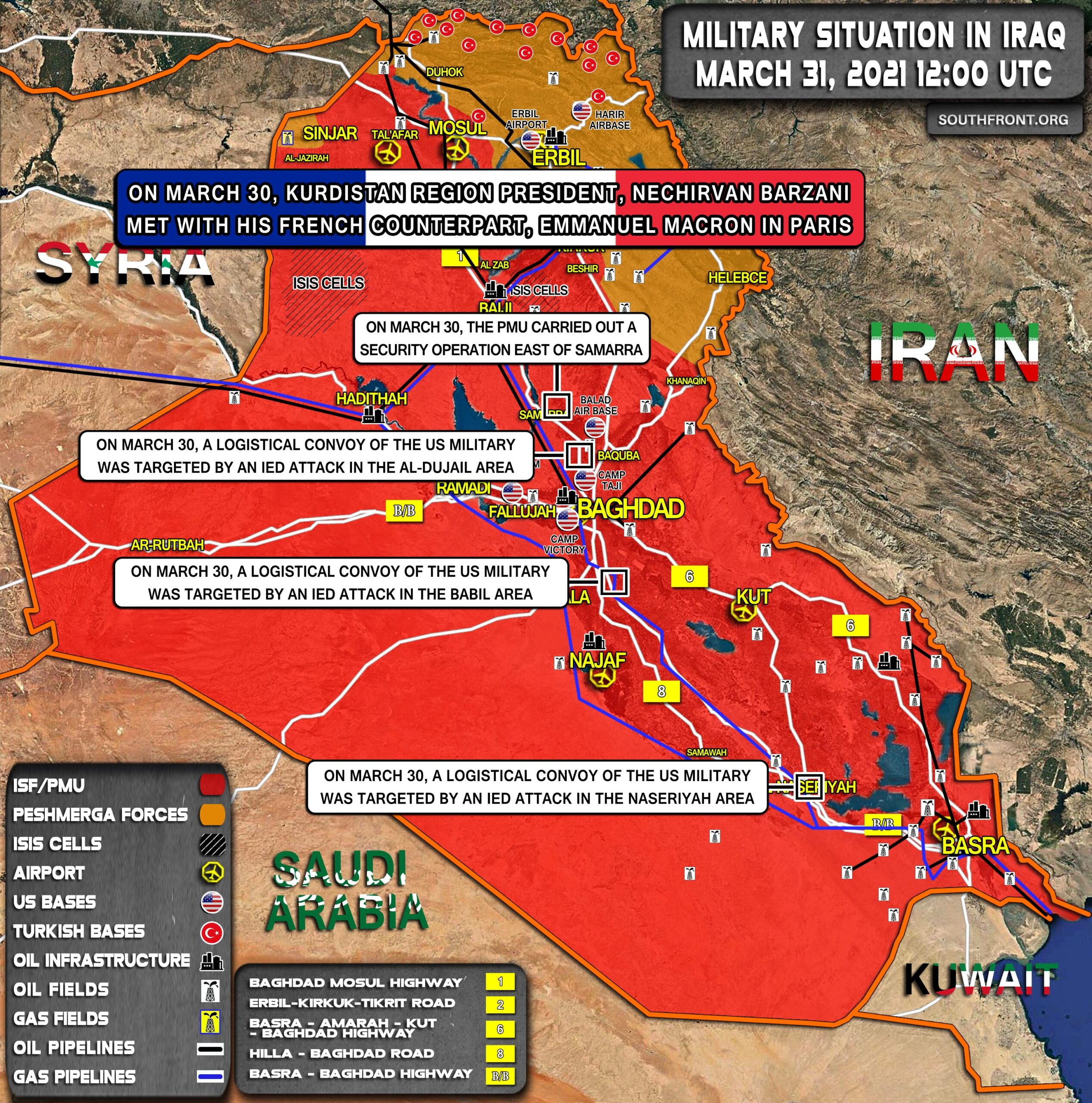 Military Situation In Iraq On March 31, 2021 (Map Update)