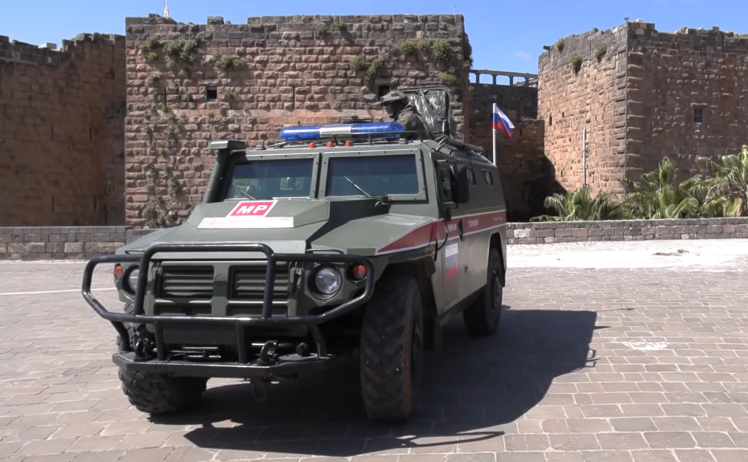 In Video: Russian Military Police Deployed To Guard Ancient City In Southern Syria