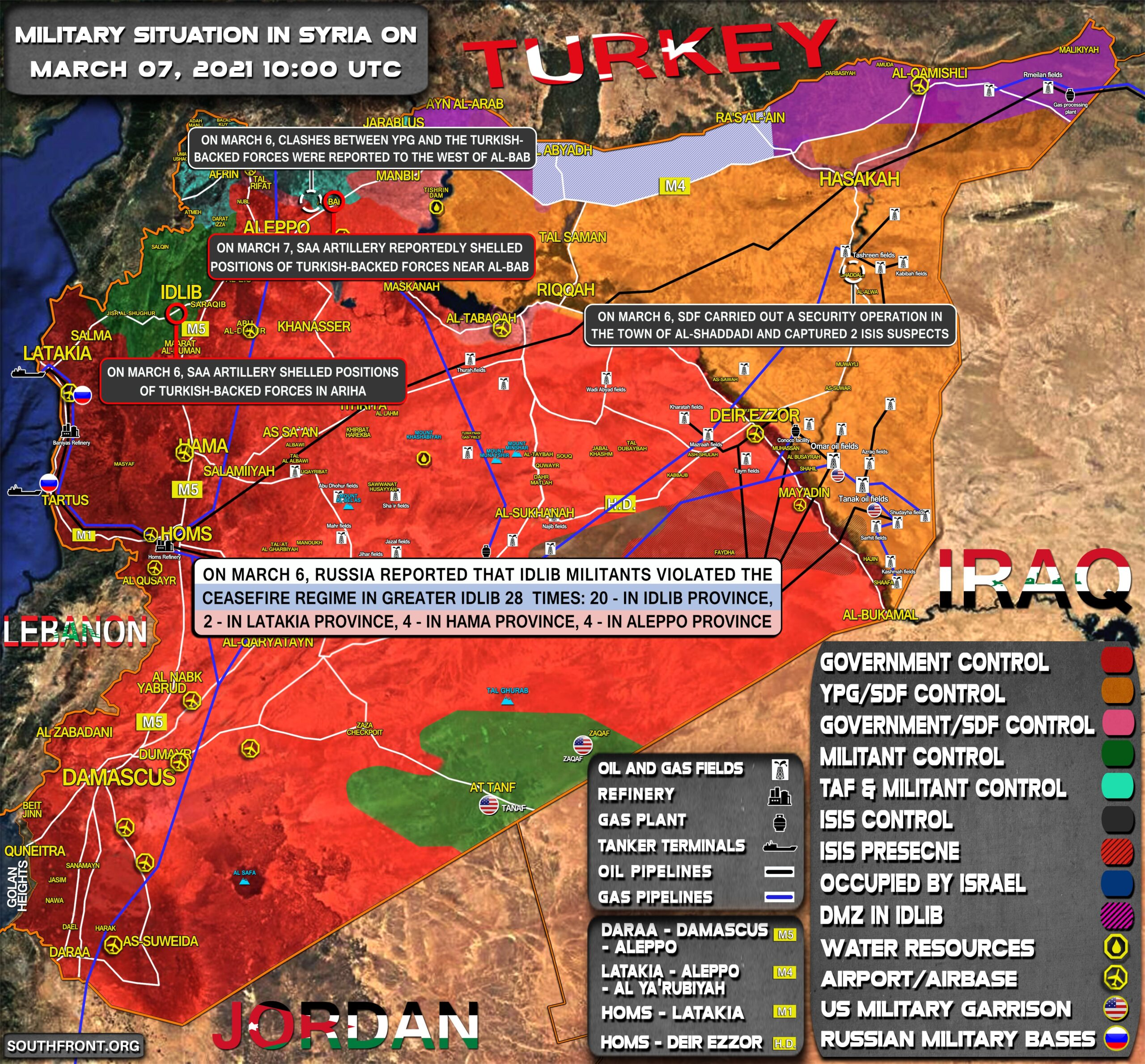 Military Situation In Syria On March 7, 2021 (Map Update)