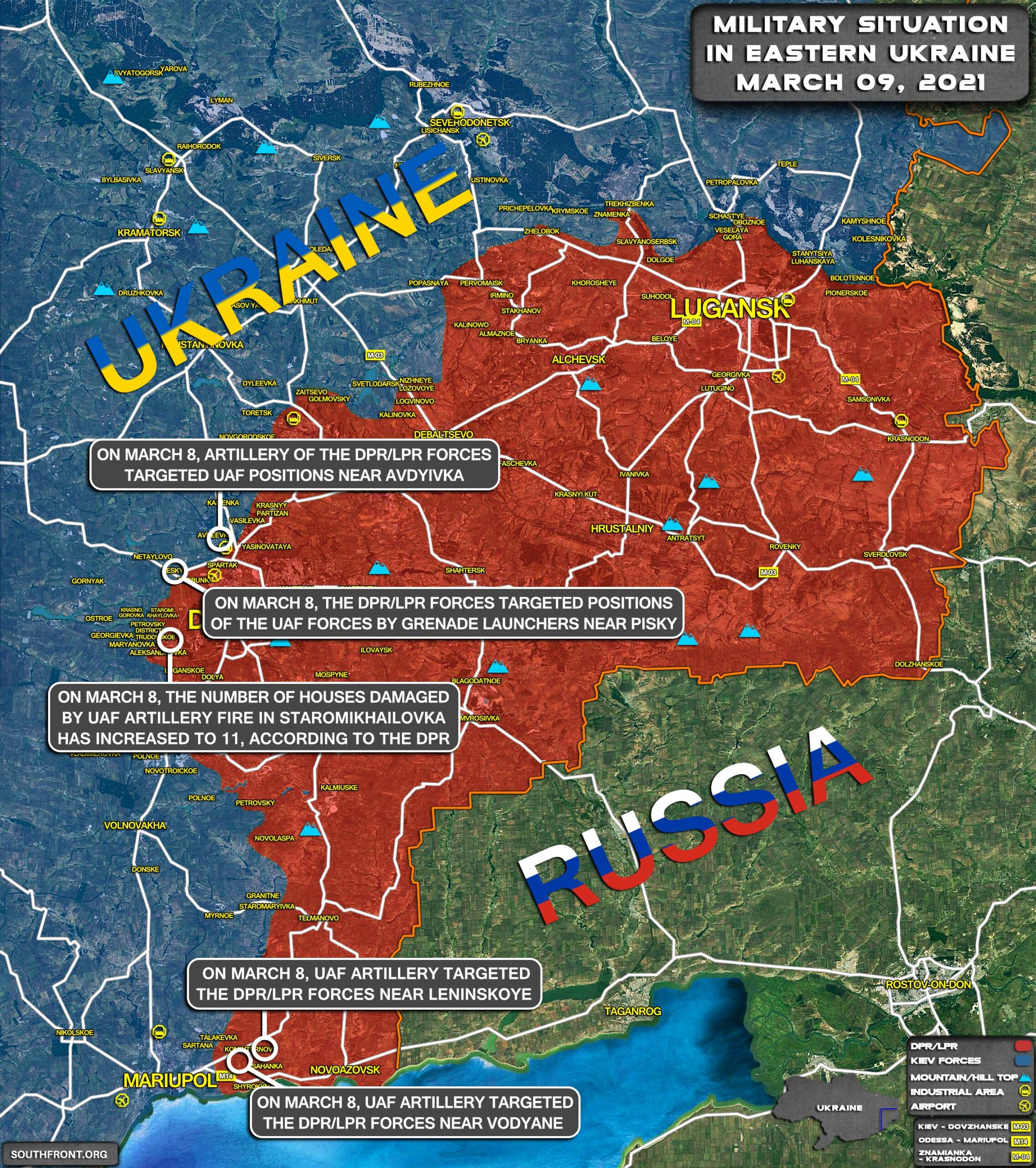 Military Situation In Eastern Ukraine On March 9, 2021 (Map Update)