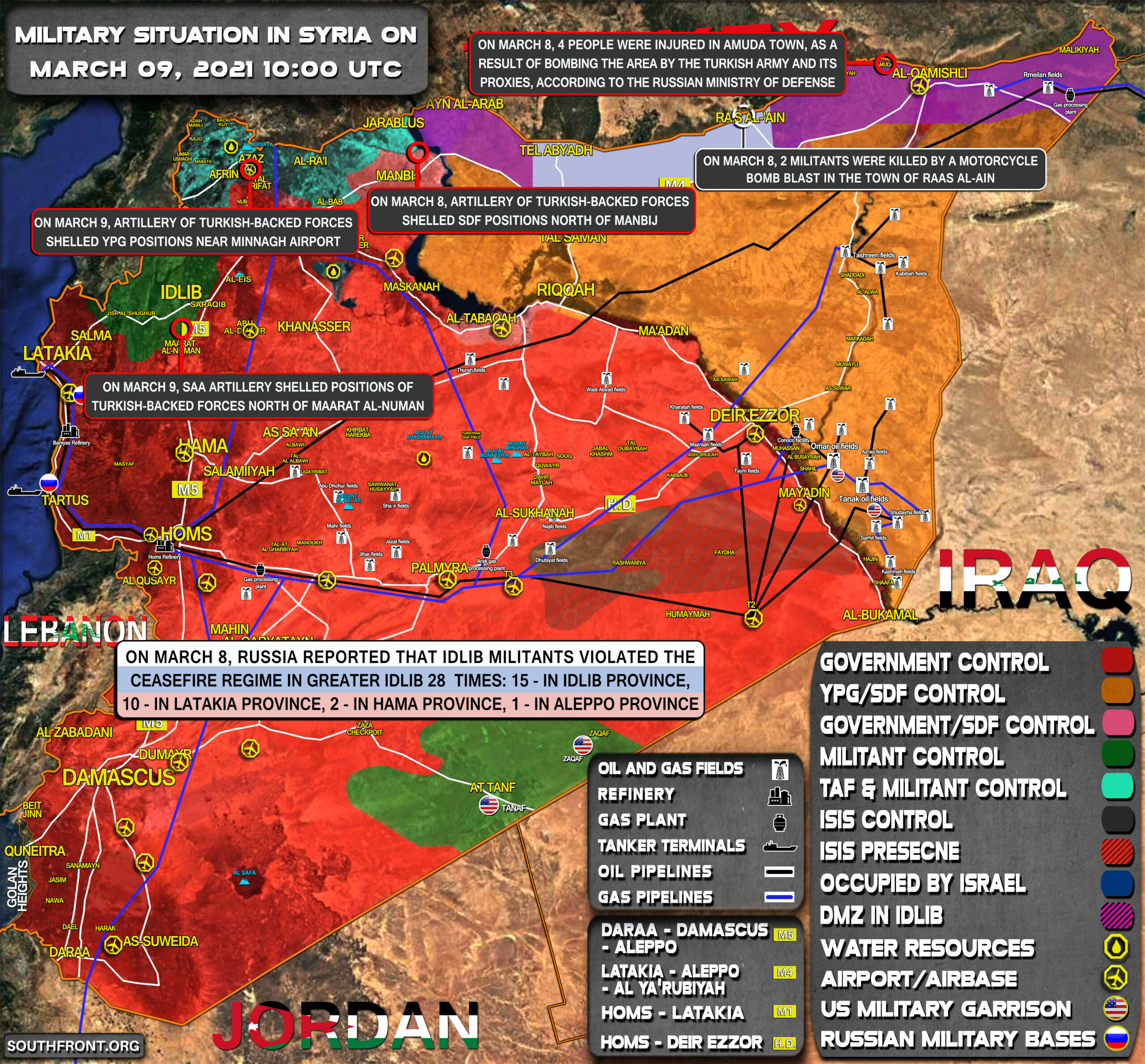 Military Situation In Syria On March 9, 2021 (Map Update)