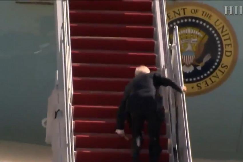 Air Force One Stairs - 1, U.S. President Joe Biden - 0