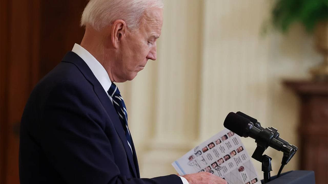 Cue Cards And Pampering: Joe Biden's First Solo Press Conference