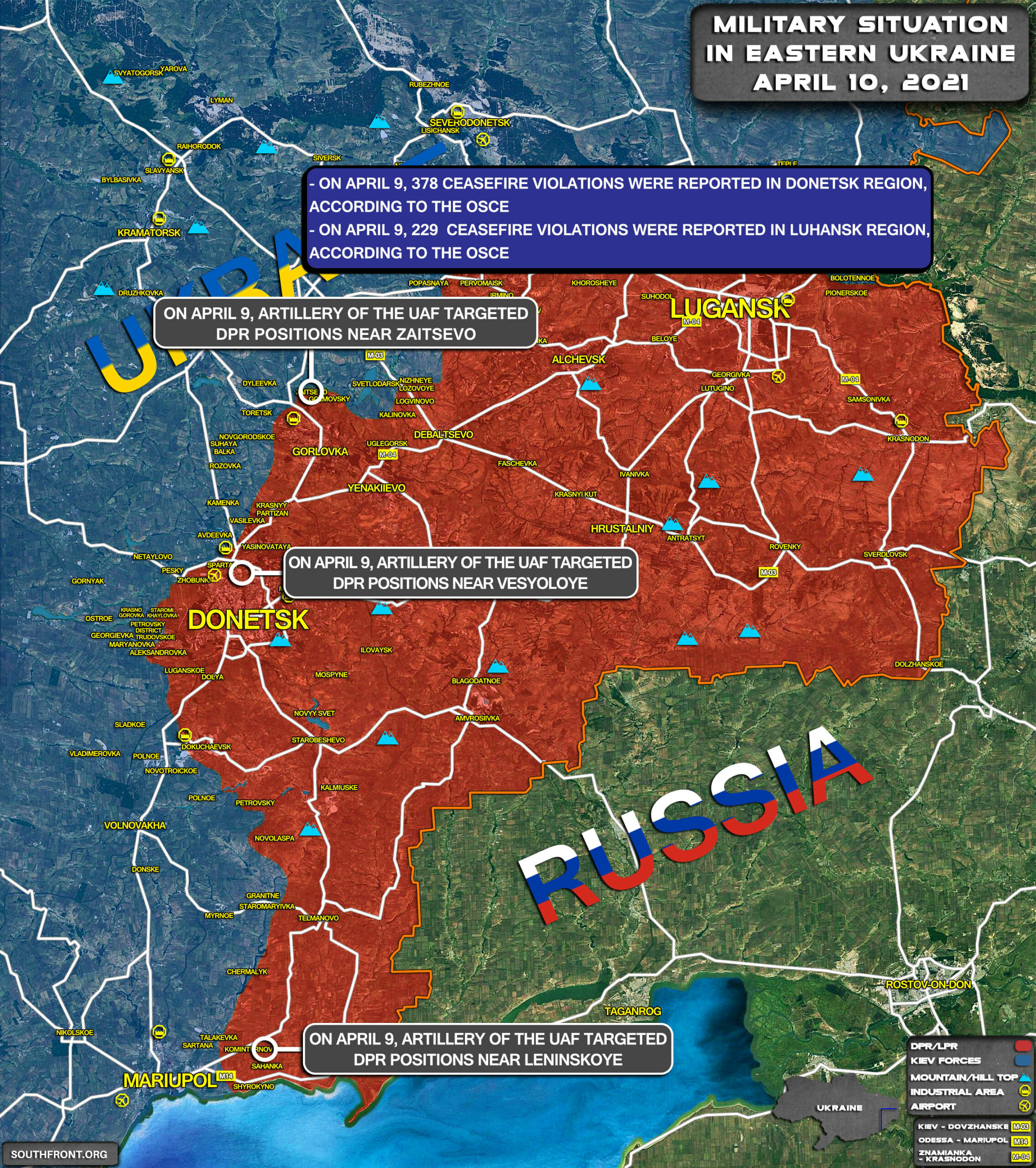 Military Situation In Eastern Ukraine On April 10, 2021 (Map Update)
