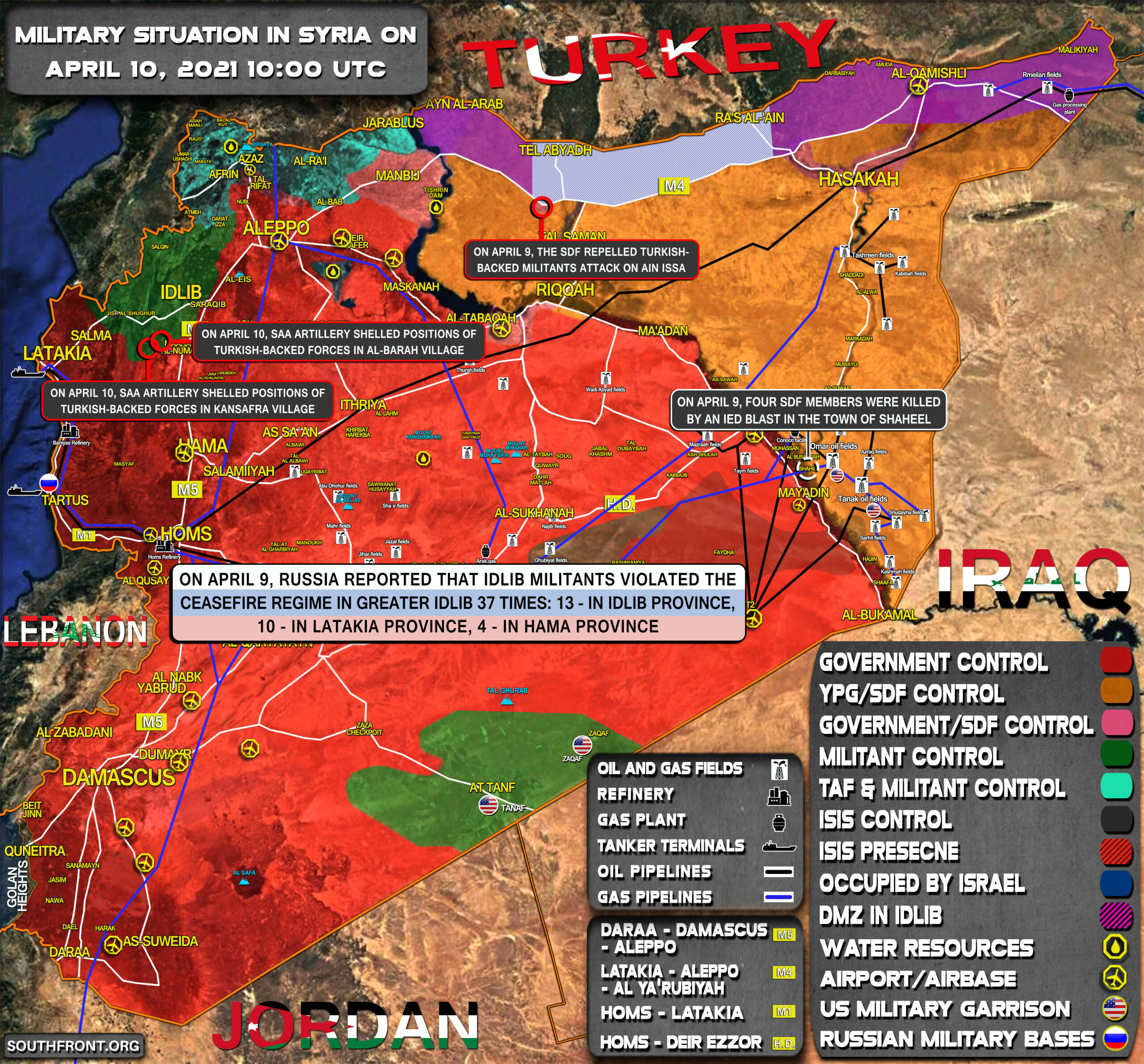 Military Situation In Syria On April 10, 2021 (Map Update)