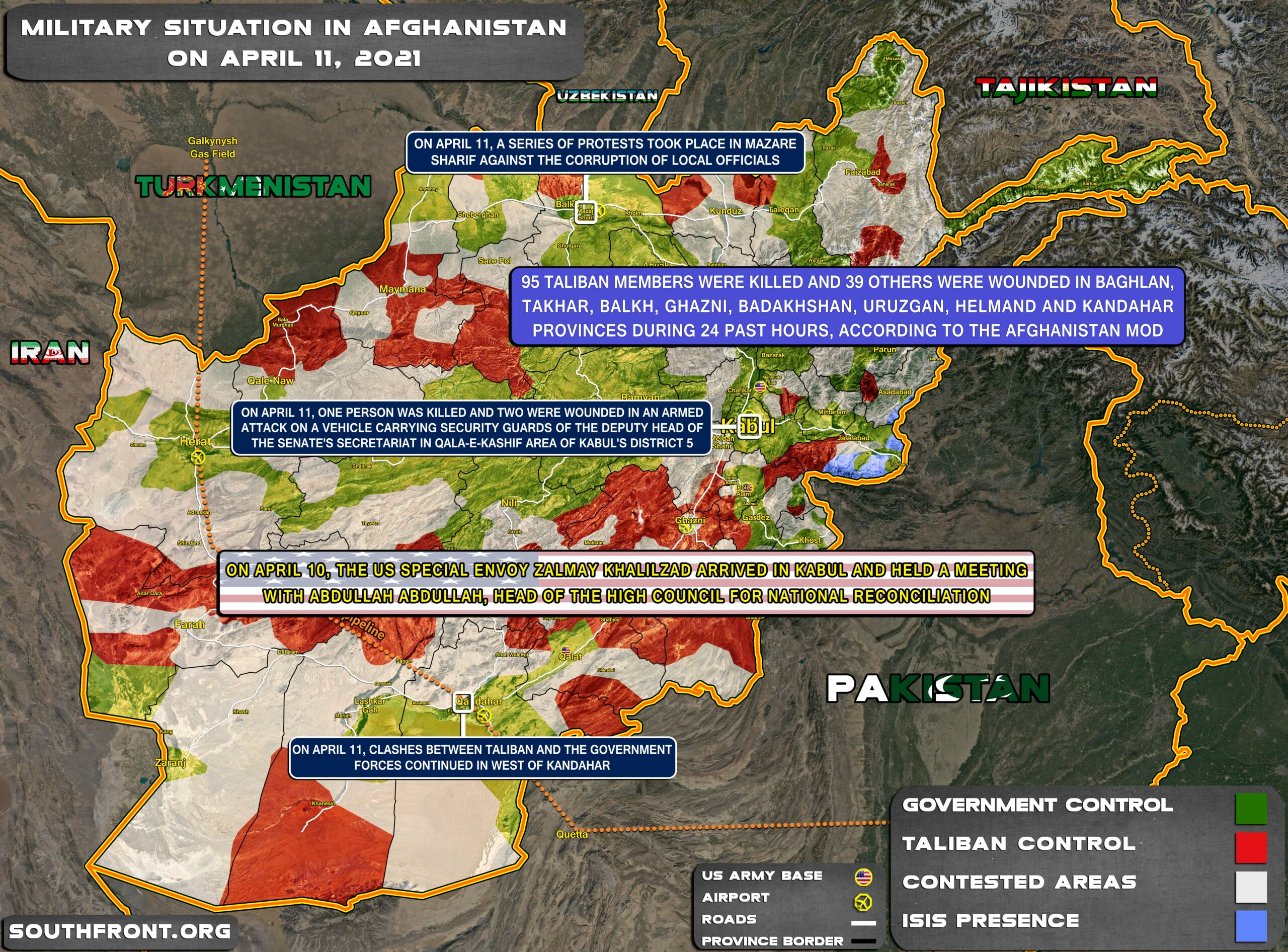 Military Situation In Afghanistan On April 11, 2021 (Map Update)