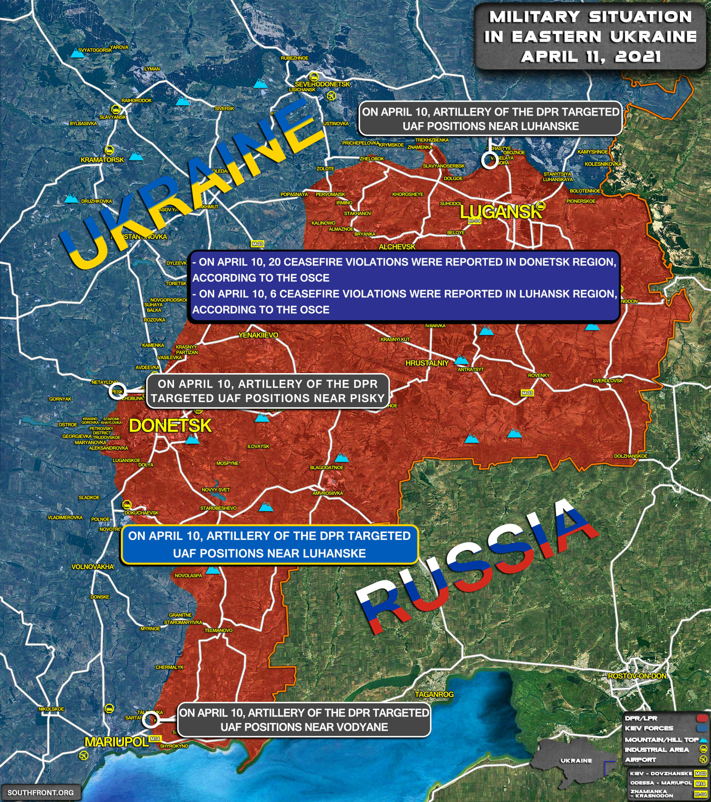 Military Situation In Eastern Ukraine On April 11, 2021 (Map Update)
