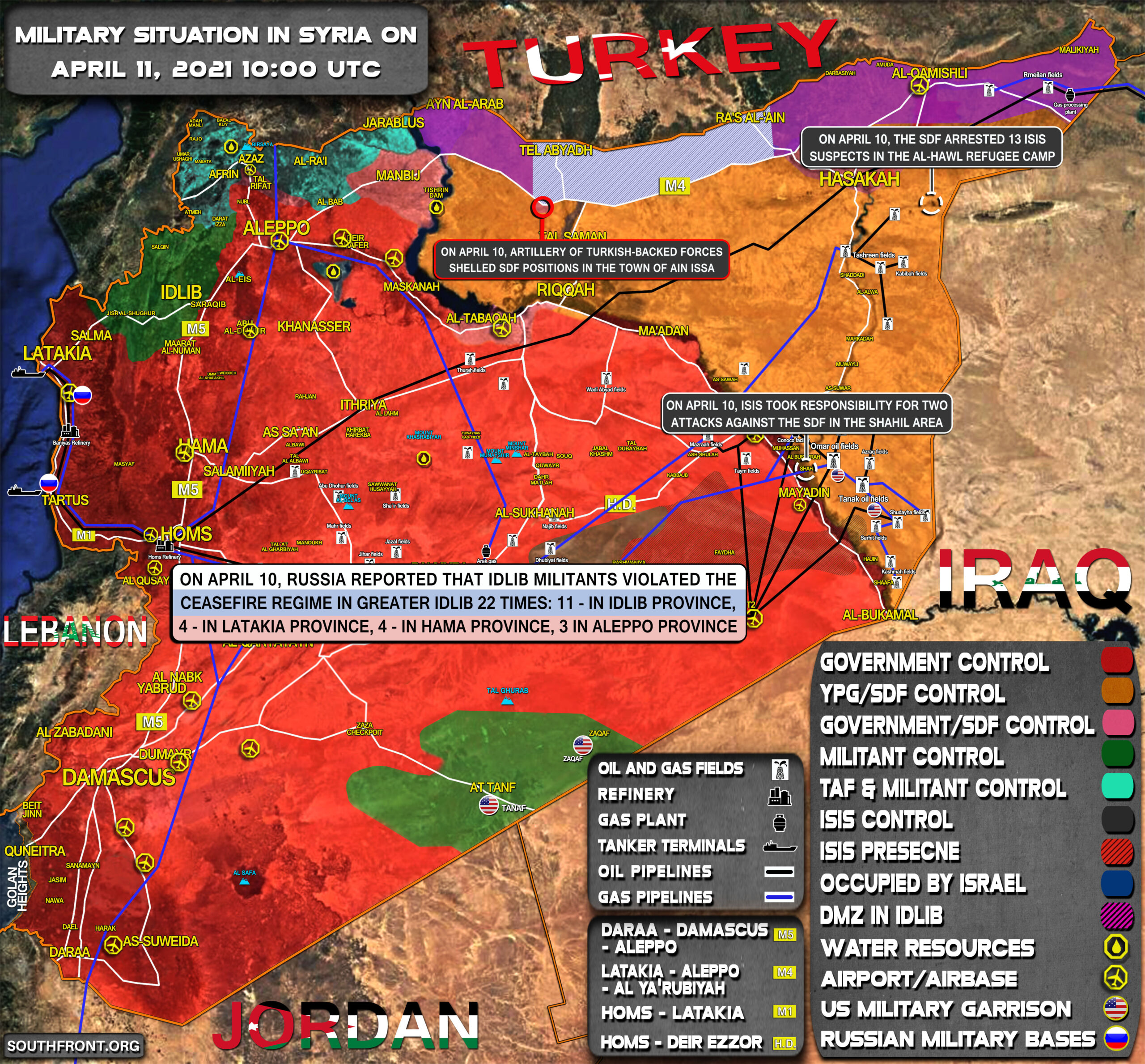 Military Situation In Syria On April 11, 2021 (Map Update)