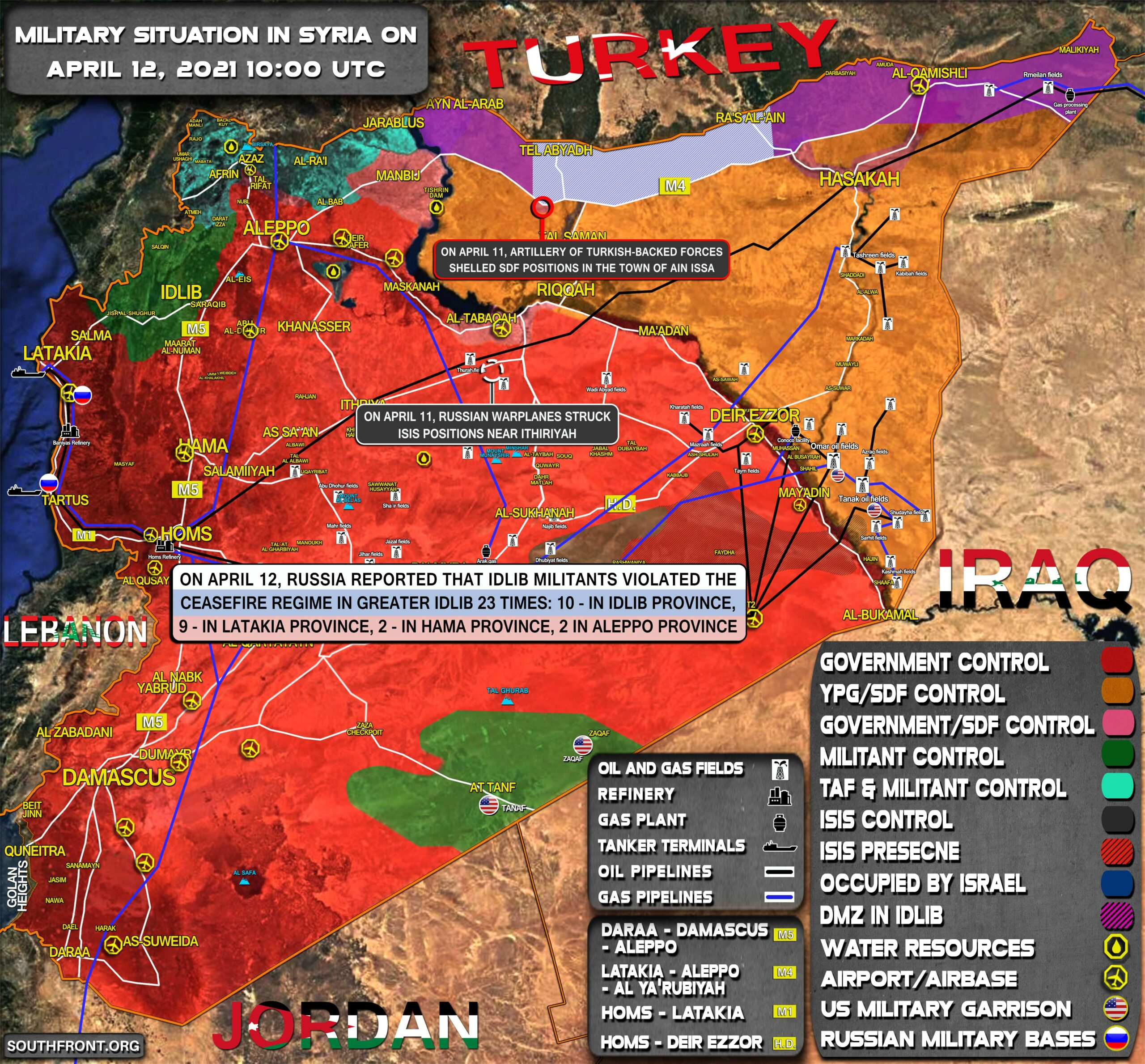 Military Situation In Syria On April 12, 2021 (Map Update)