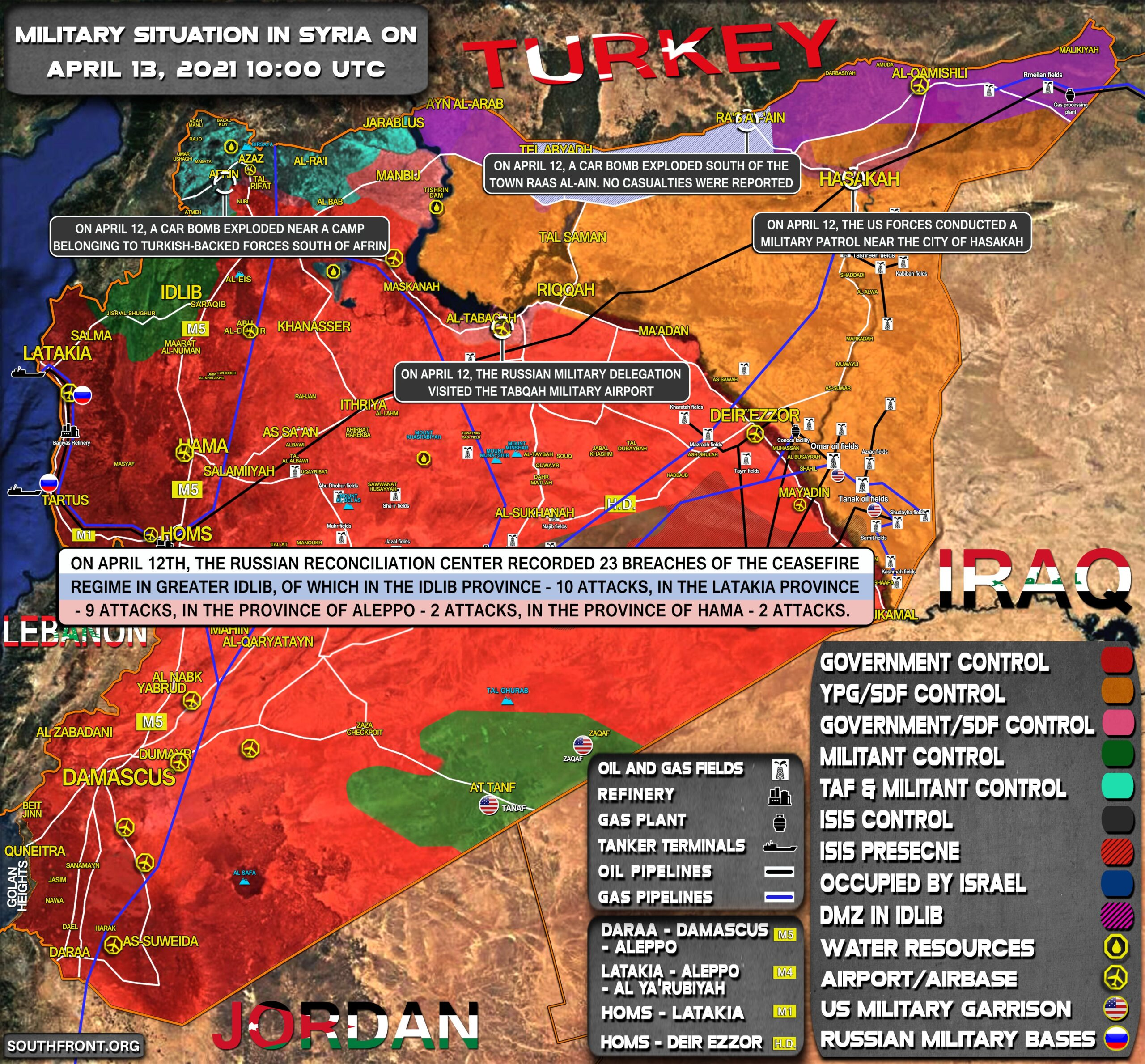 Military Situation In Syria On April 13, 2021 (Map Update)