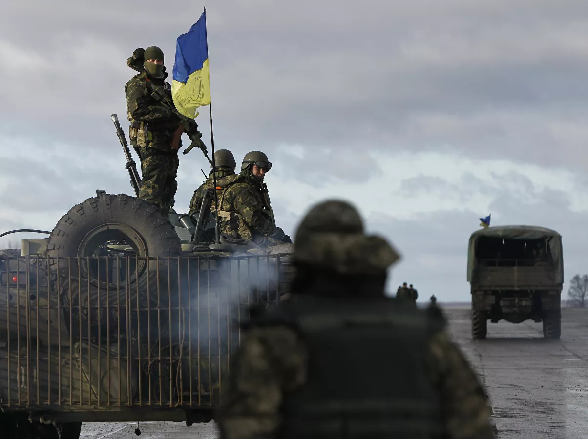 Ukraine's Armed Forces Carry Out Military Exercise Near Crimea