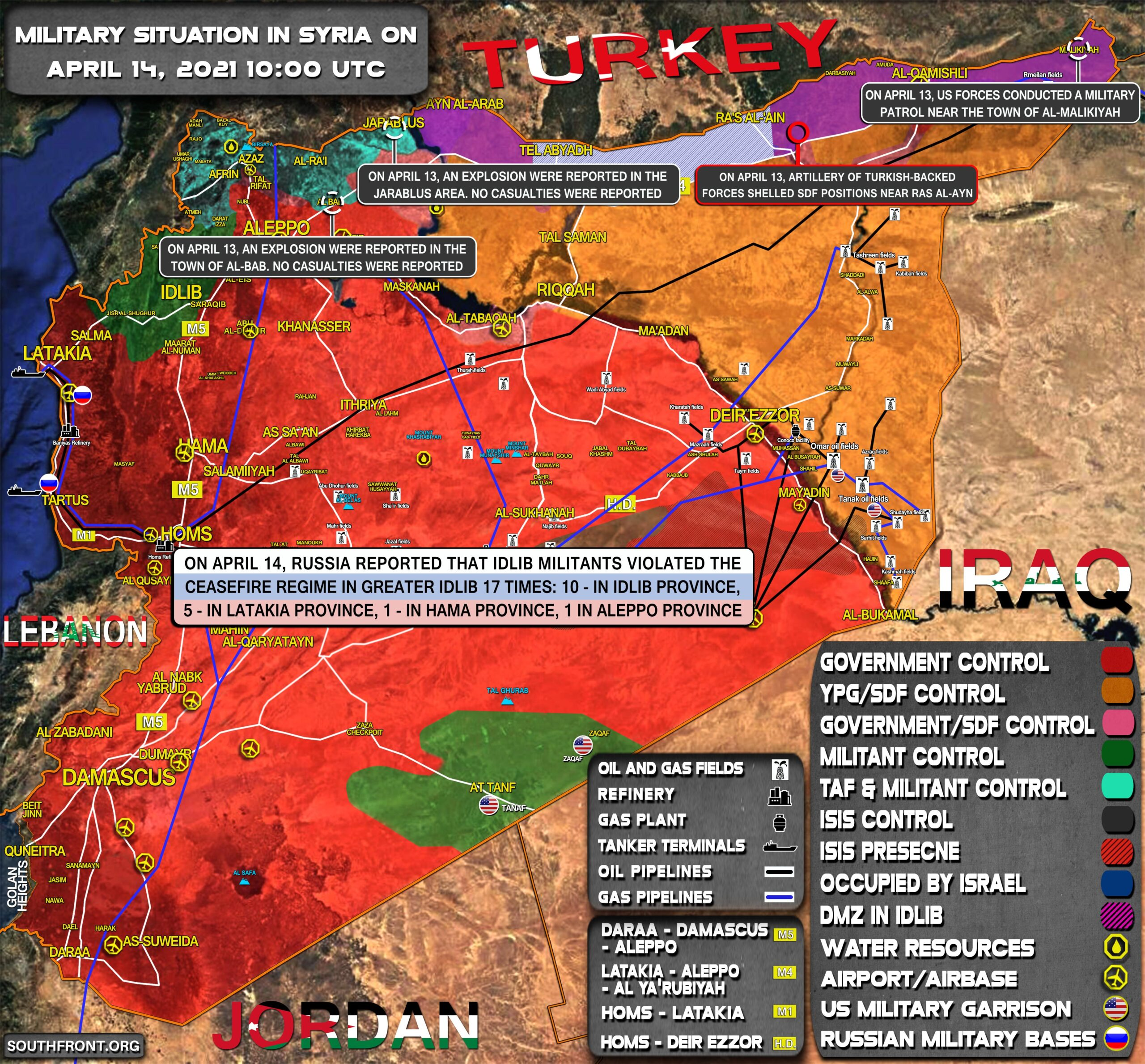 Military Situation In Syria On April 14, 2021 (Map Update)