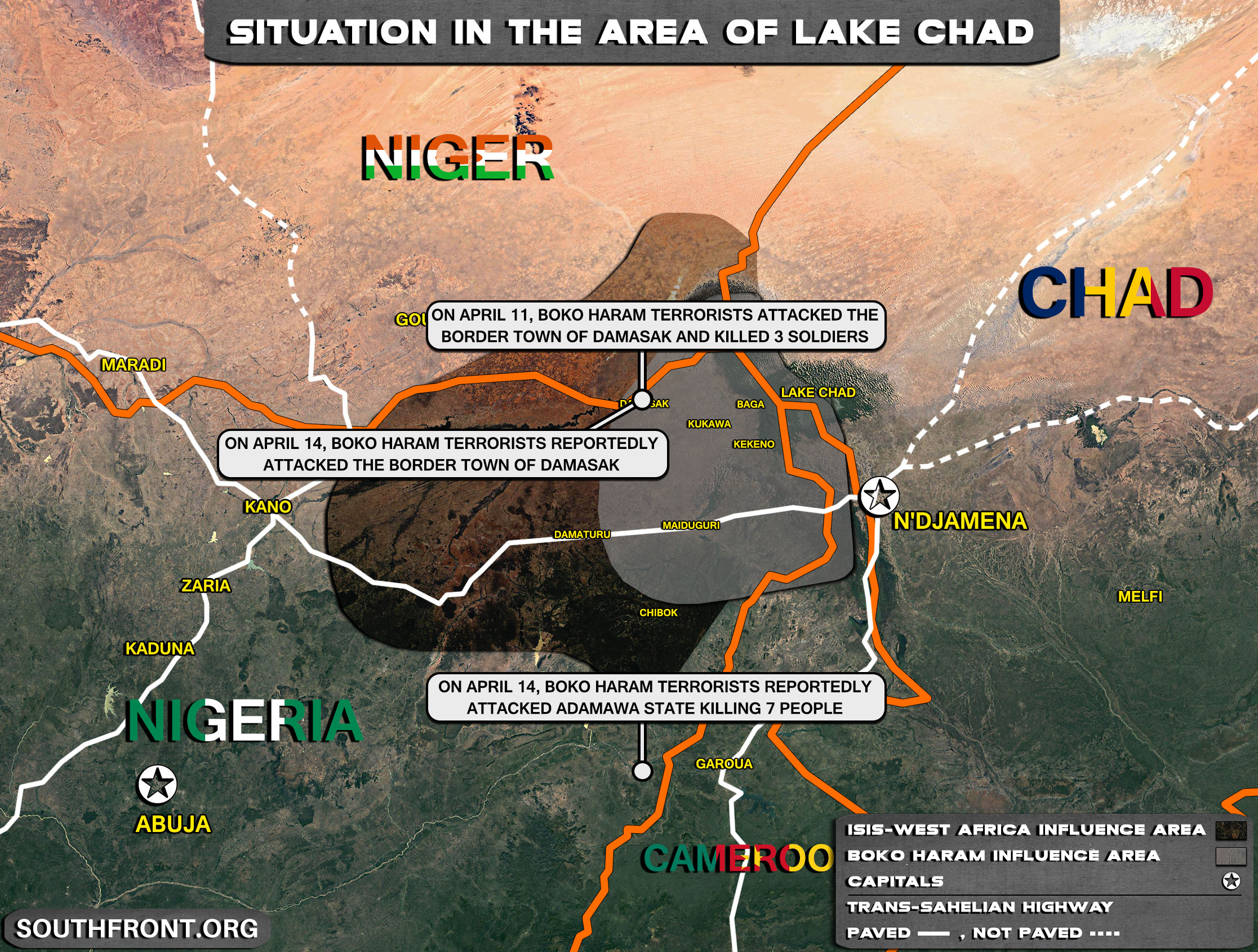 Situation In The Lake Chad Area On April 15, 2021 (Map Update)