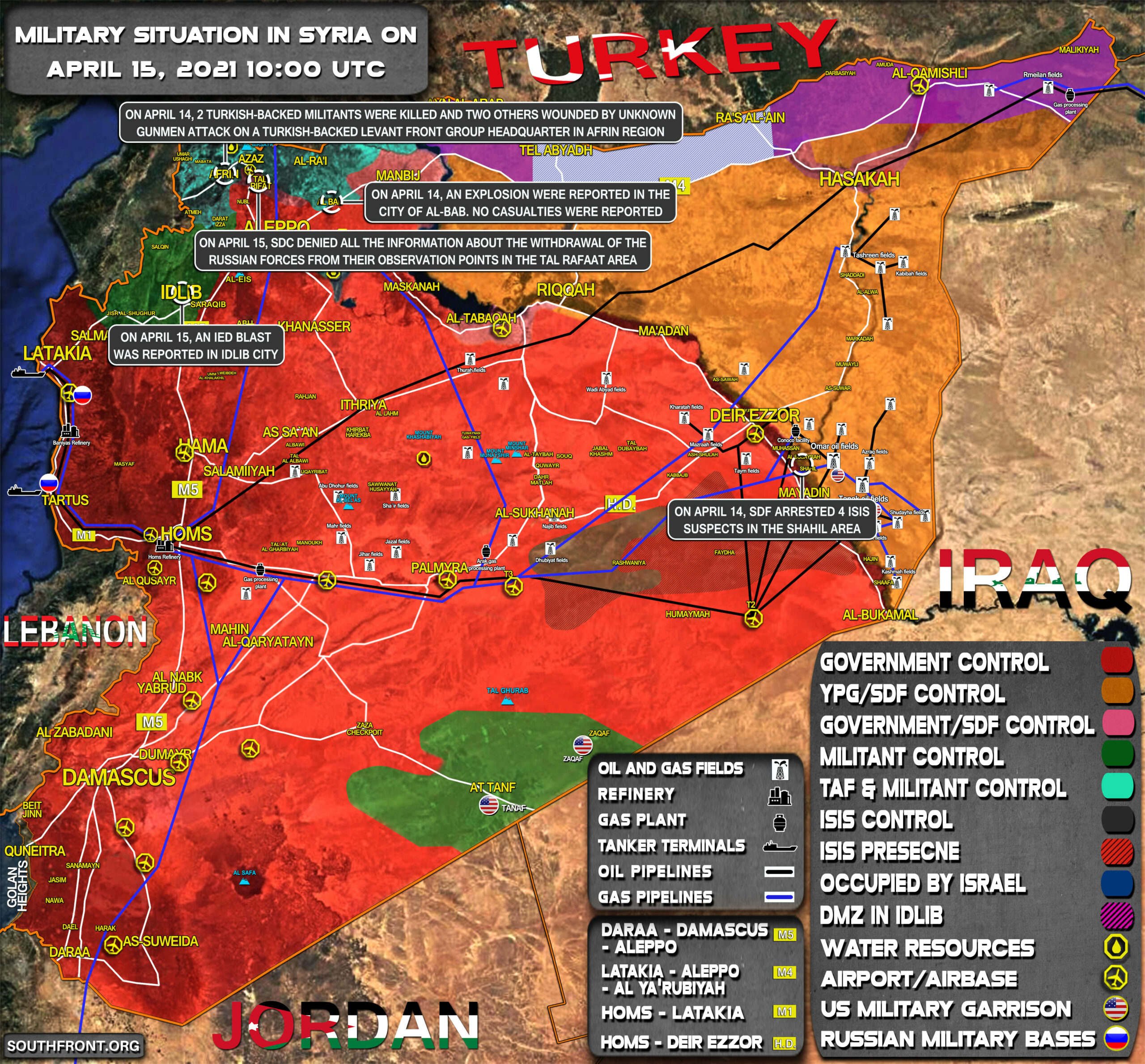 Military Situation In Syria On April 15, 2021 (Map Update)