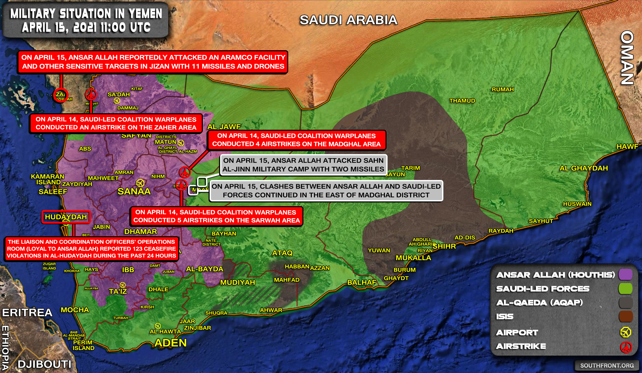 Houthis Targeted Oil Facilities, Patriot Systems In Saudi Arabia With 11 Drones & Missiles (Video, Map Update)
