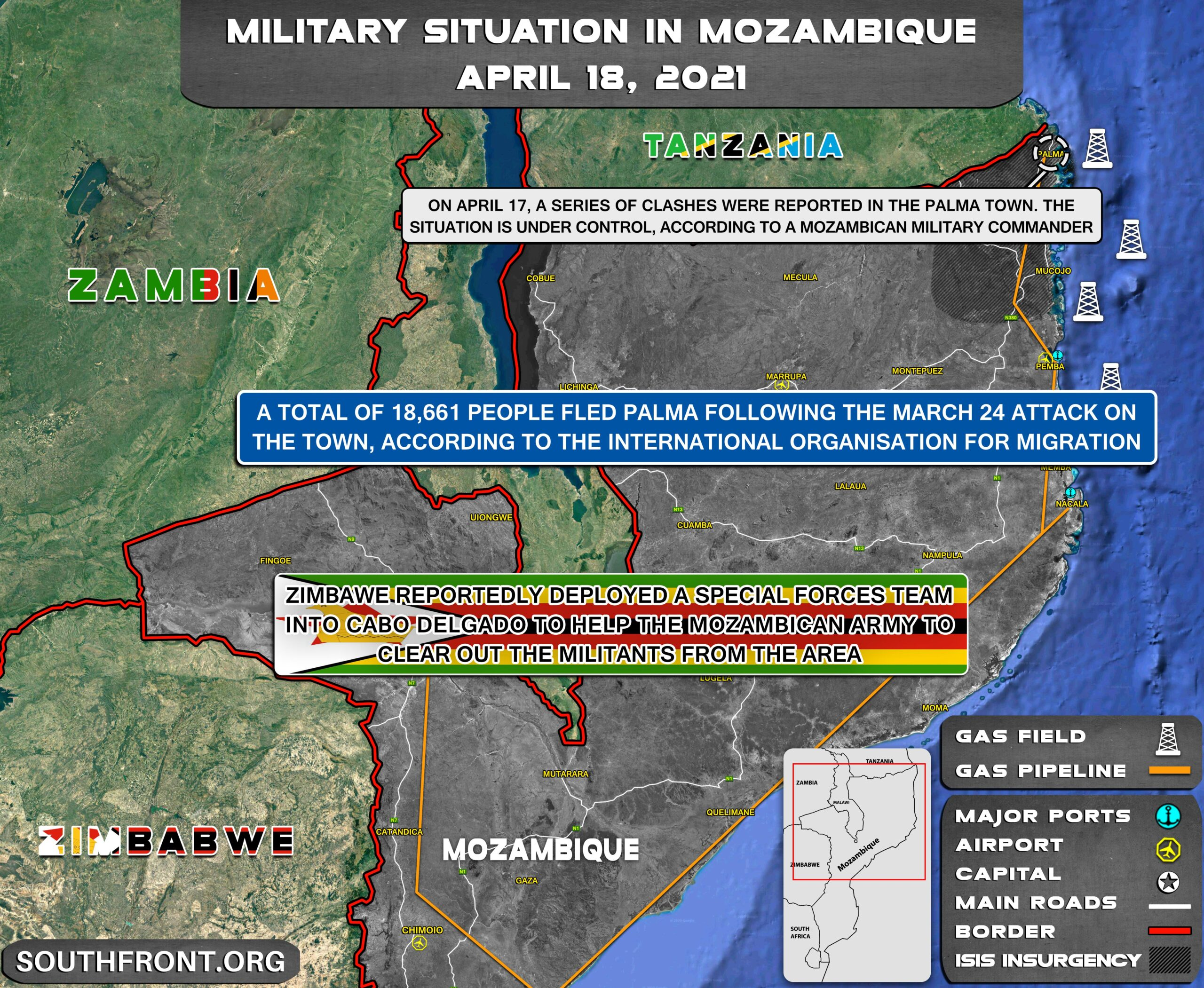 Military Situation In Mozambique On April 18, 2021 (Map Update)