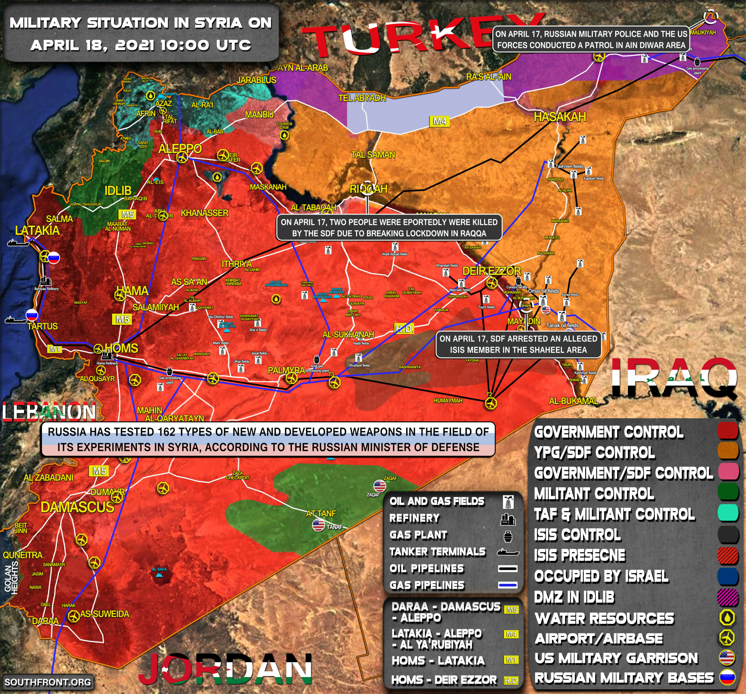 Military Situation In Syria On April 18, 2021 (Map Update)