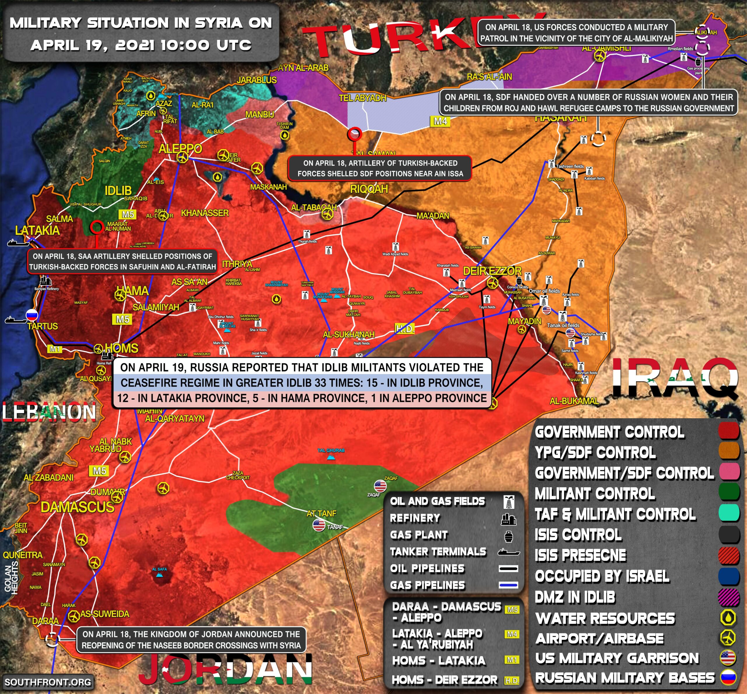Military Situation In Syria On April 19, 2021 (Map Update)