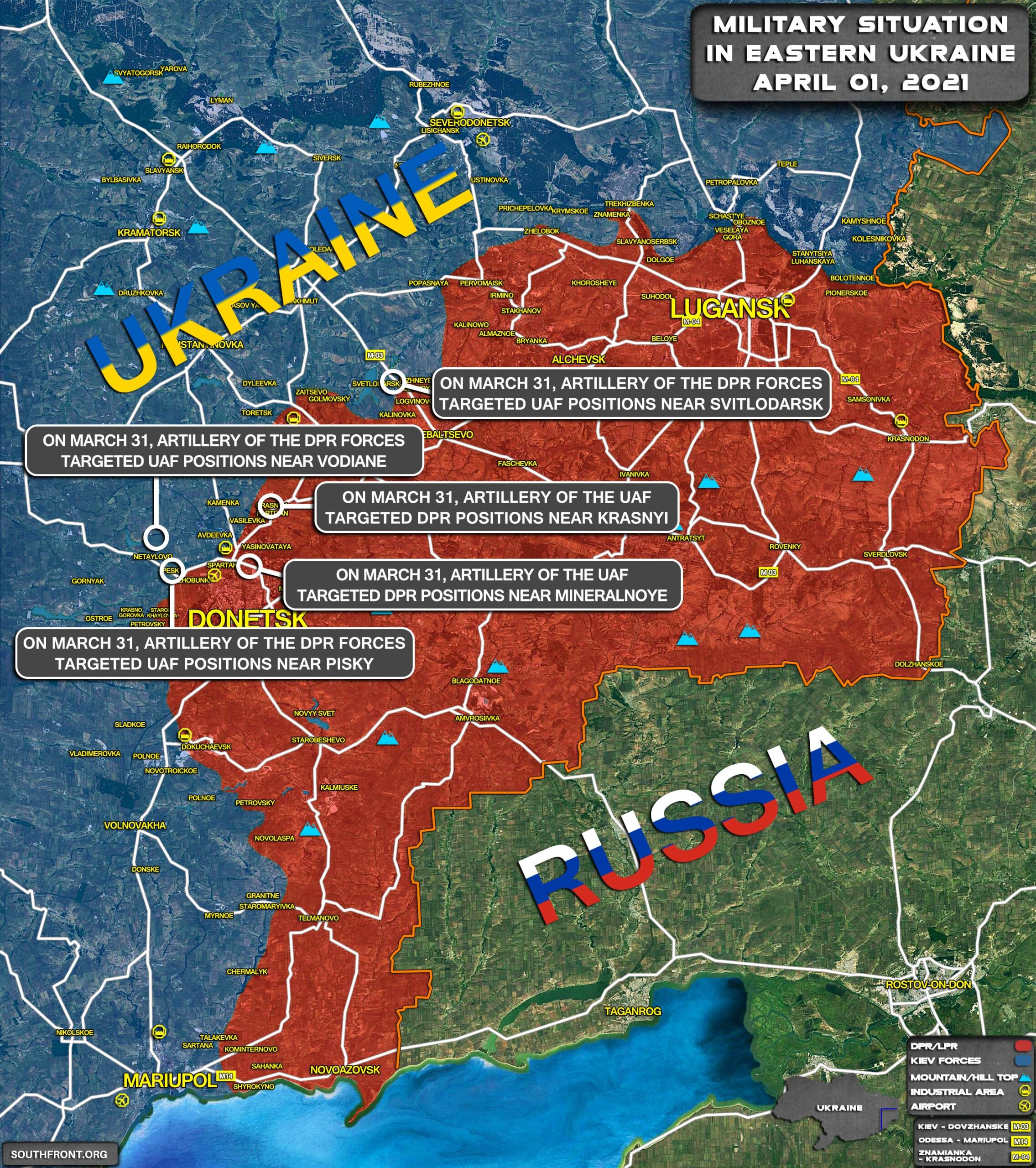 Military Situation In Eastern Ukraine On April 1, 2021 (Map Update)