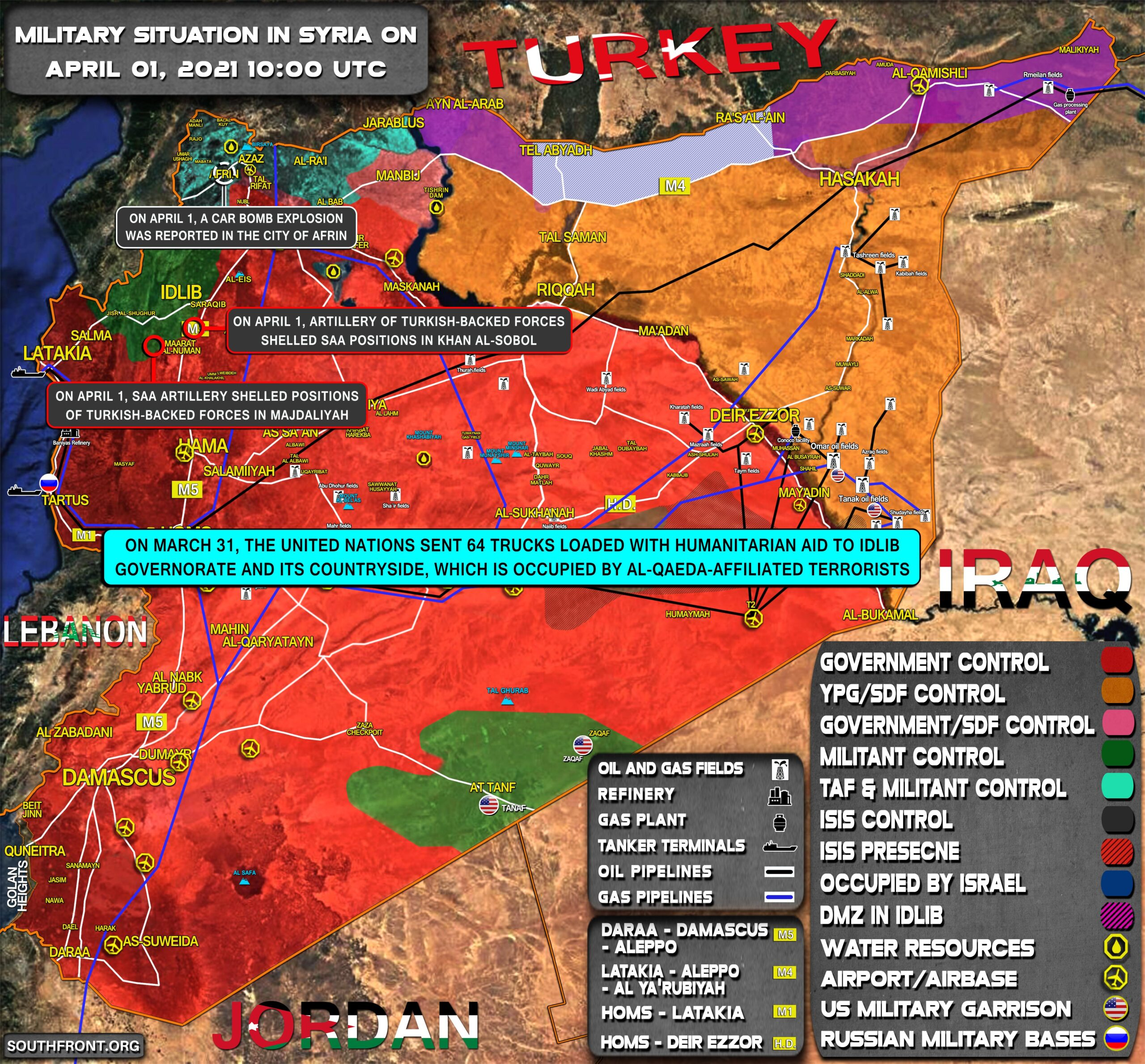 Military Situation In Syria On April 1, 2021 (Map Update)
