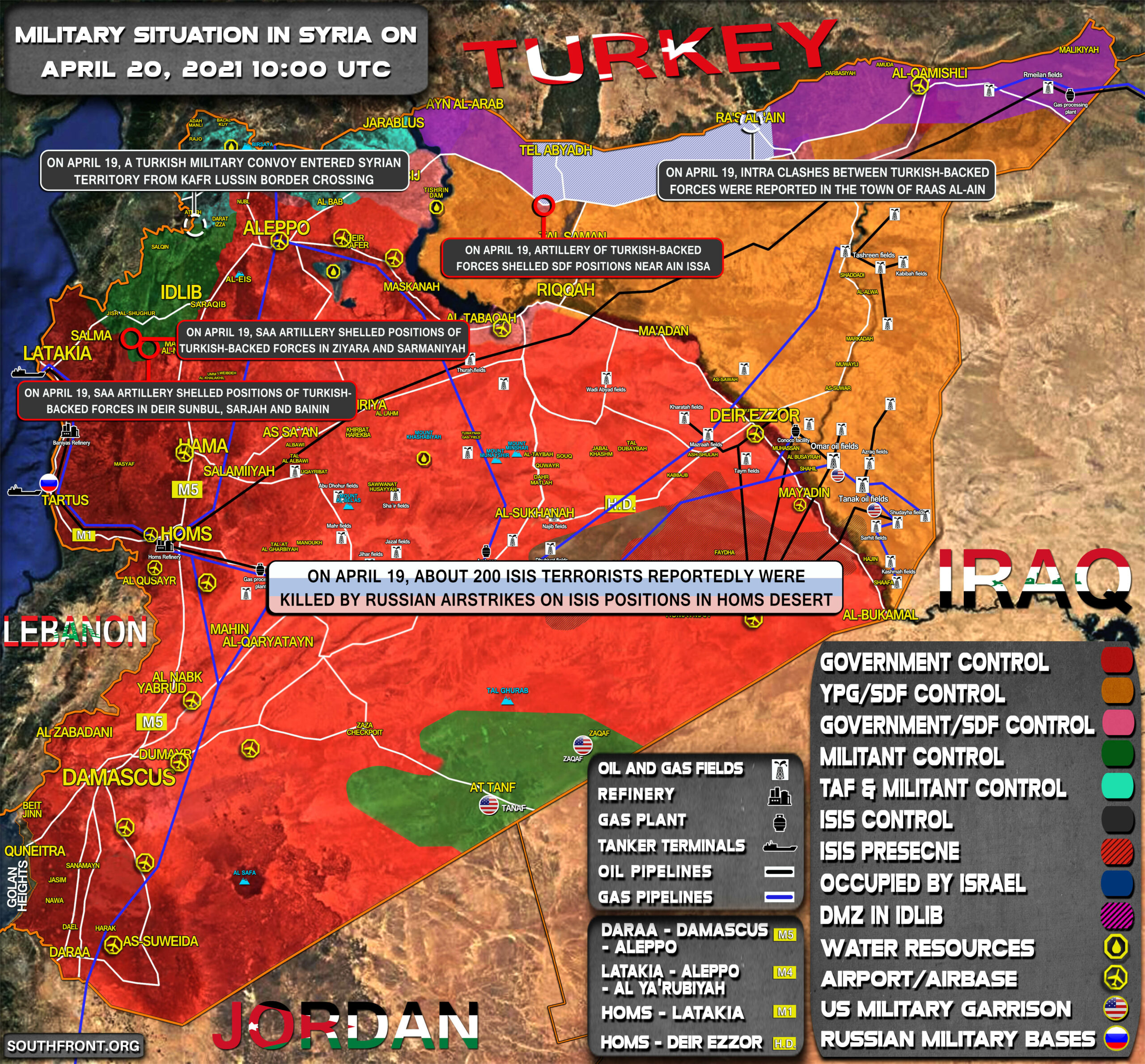 Military Situation In Syria On April 20, 2021 (Map Update)
