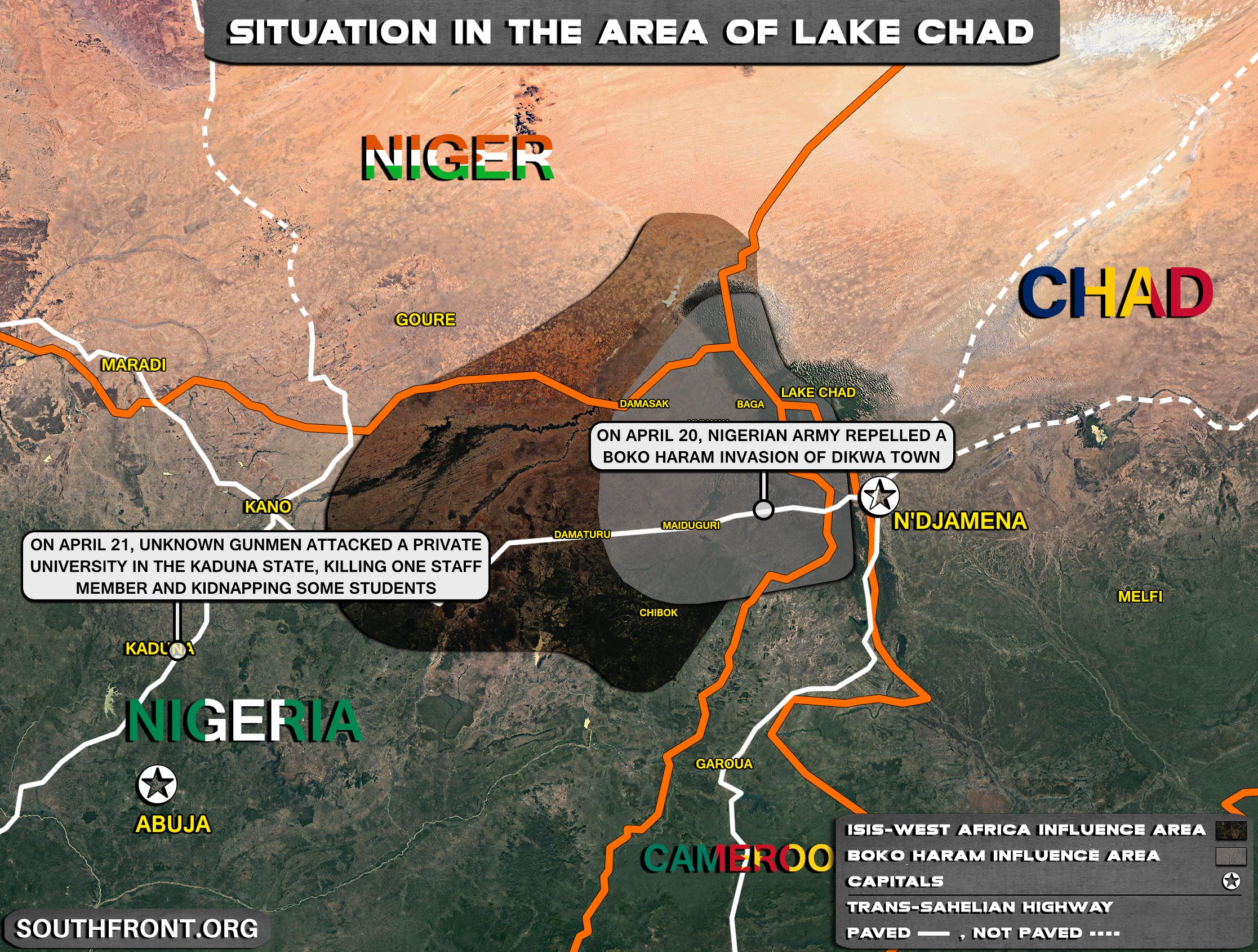 Situation In The Lake Chad Area On April 22, 2021 (Map Update)