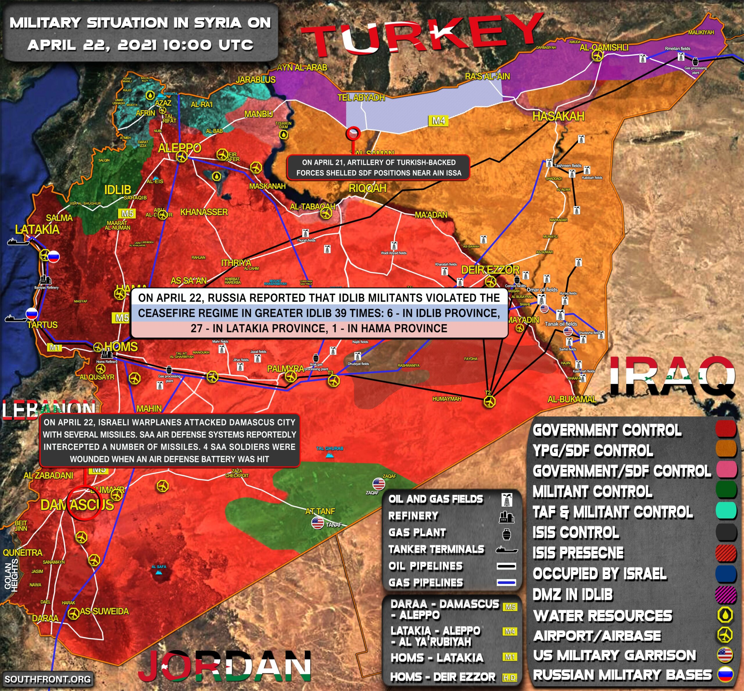 Military Situation In Syria On April 22, 2021 (Map Update)