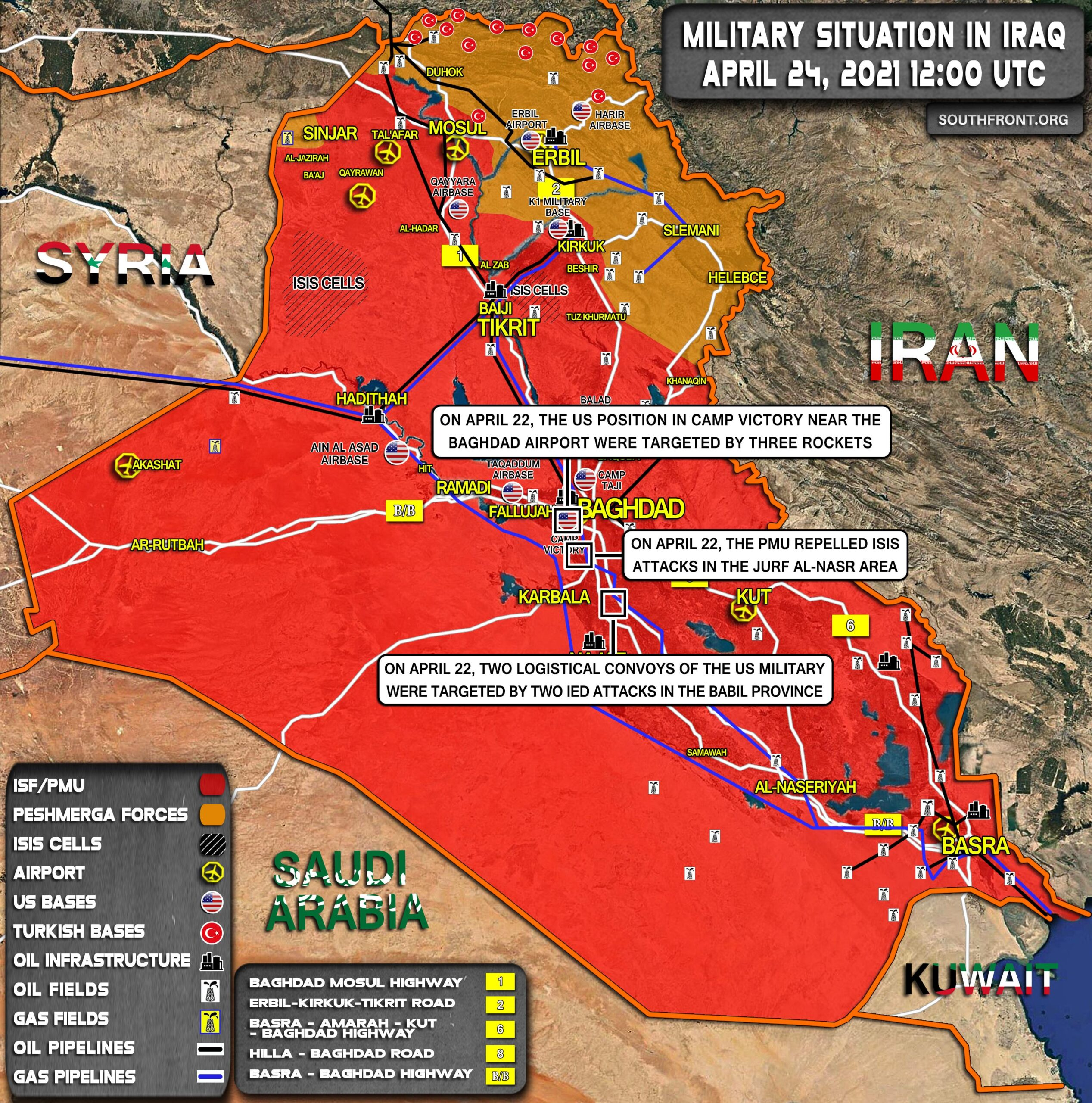 Military Situation In Iraq On April 24, 2021 (Map Update)