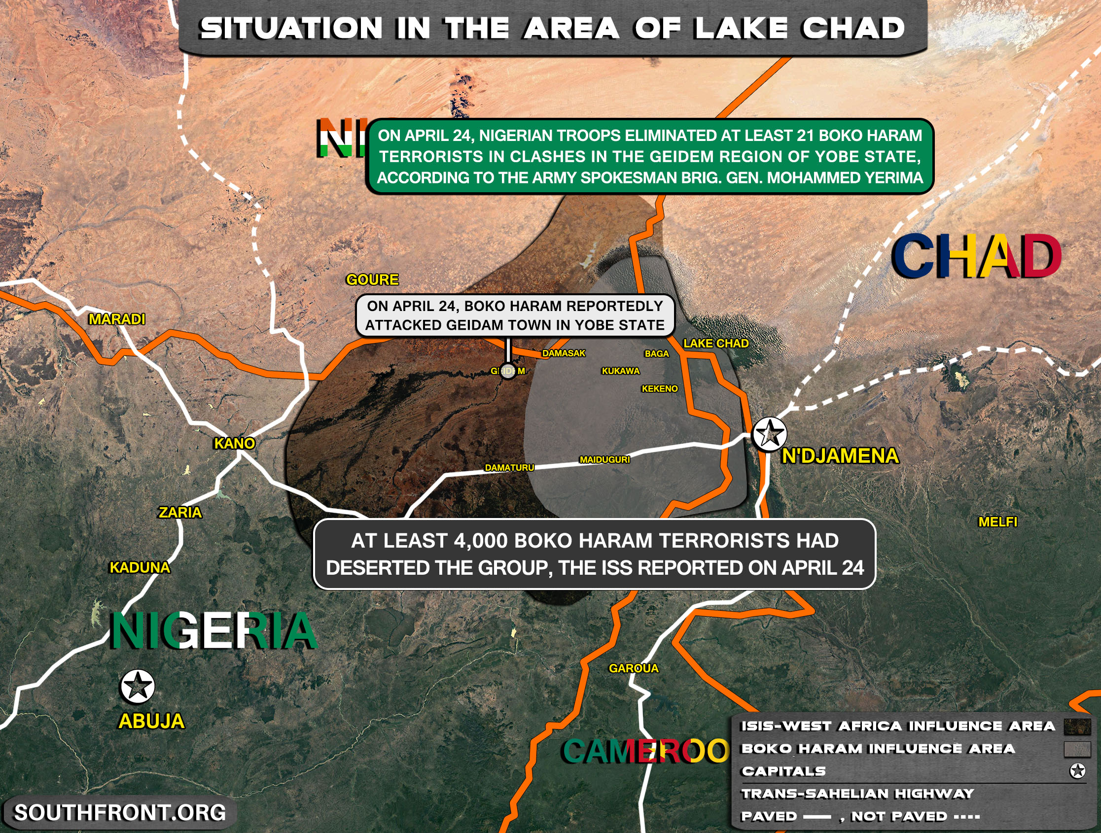 Military Situation In The Lake Chad Area On April 22, 2021 (Map Update)