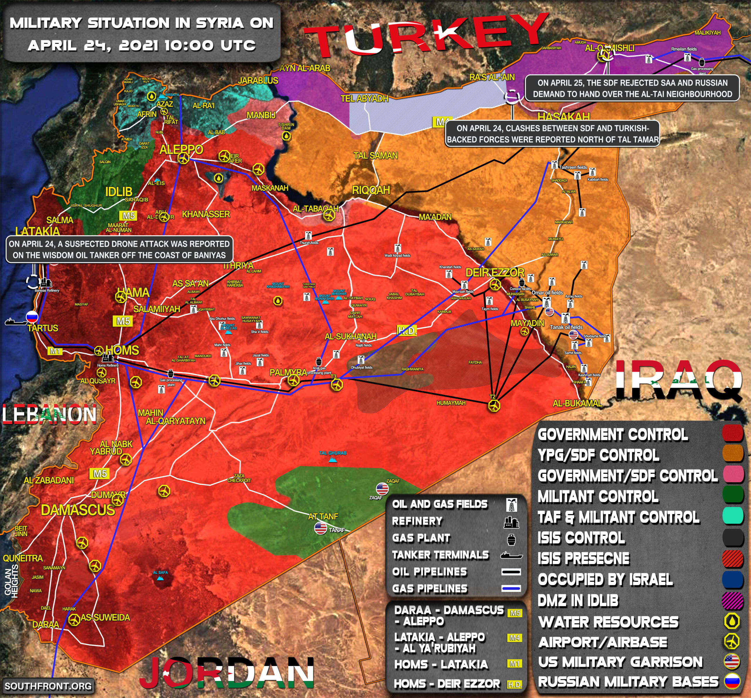 Military Situation In Syria On April 25, 2021 (Map Update)