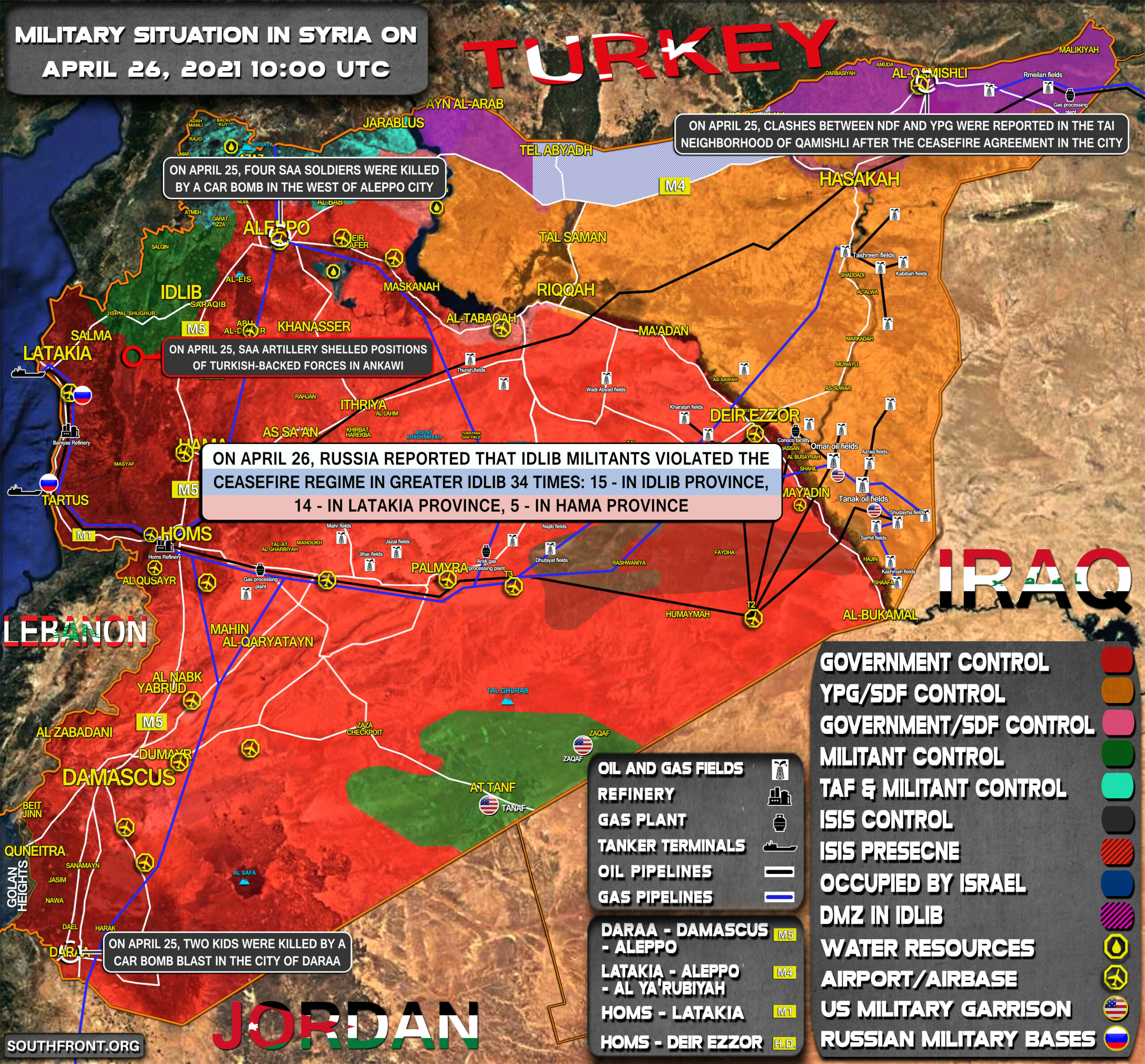 Military Situation In Syria On April 26, 2021 (Map Update)