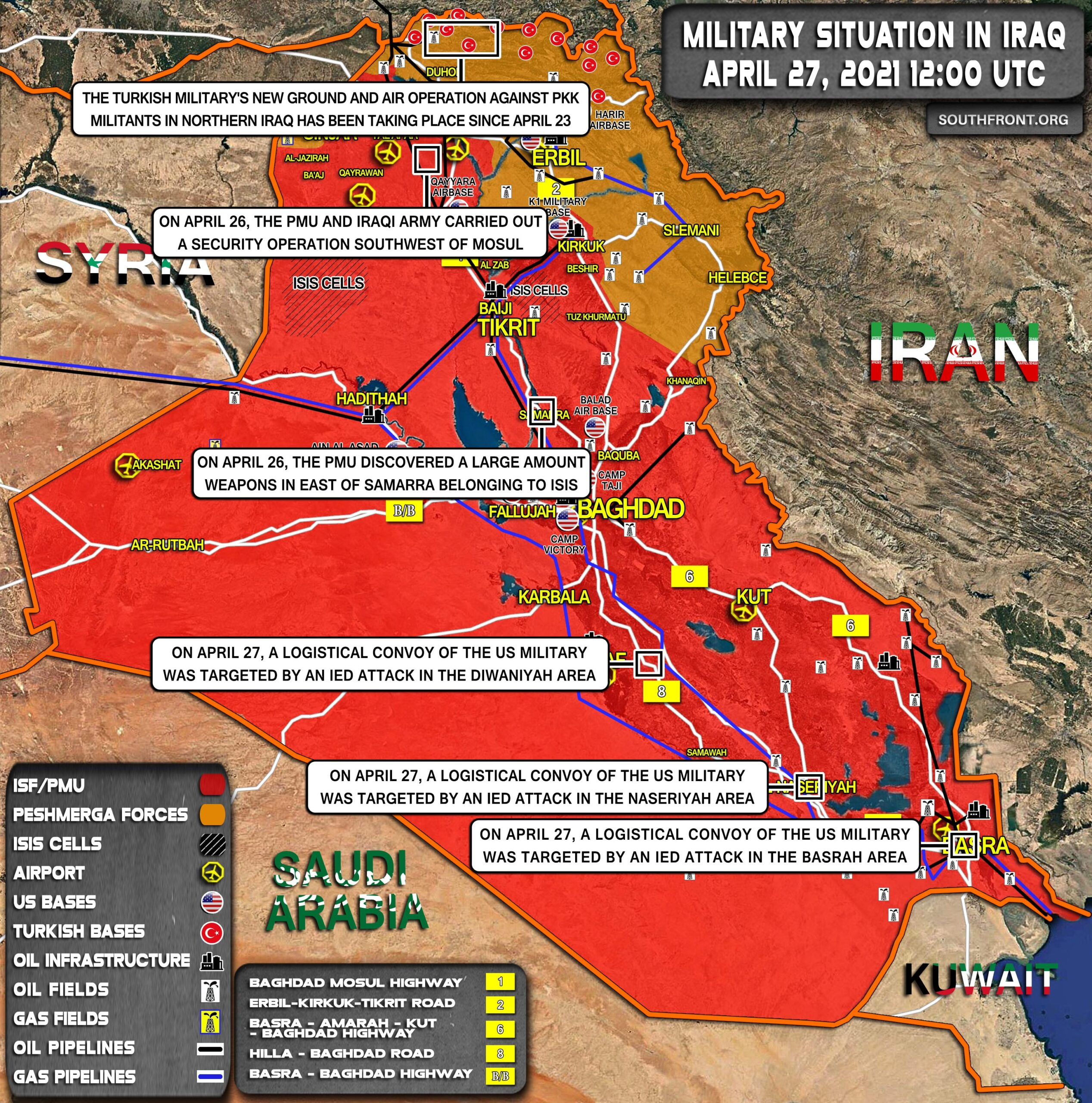 Military Situation In Iraq On April 27, 2021 (Map Update)