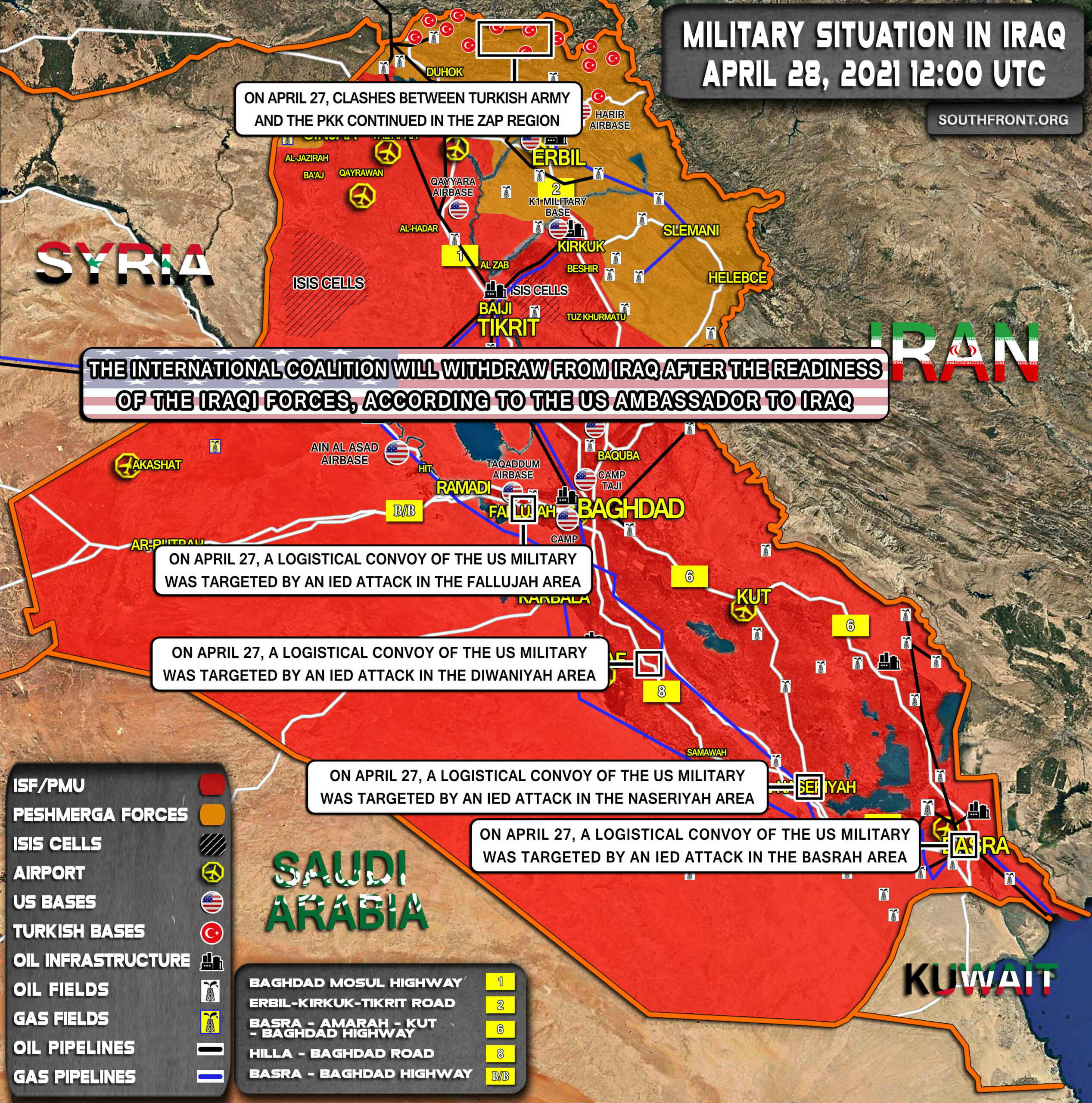 Military Situation In Iraq On April 28, 2021 (Map Update)