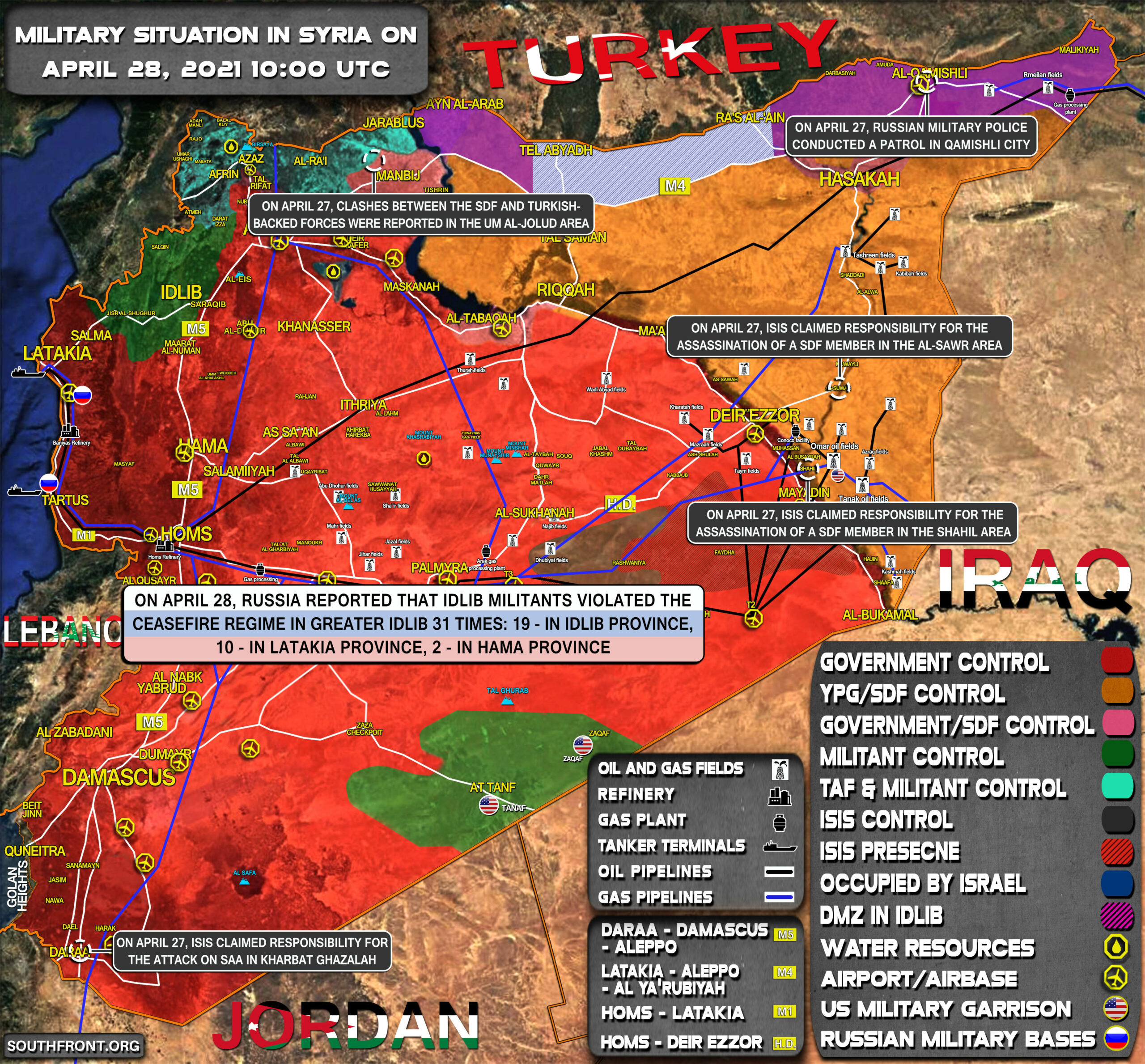 Military Situation In Syria On April 28, 2021 (Map Update)