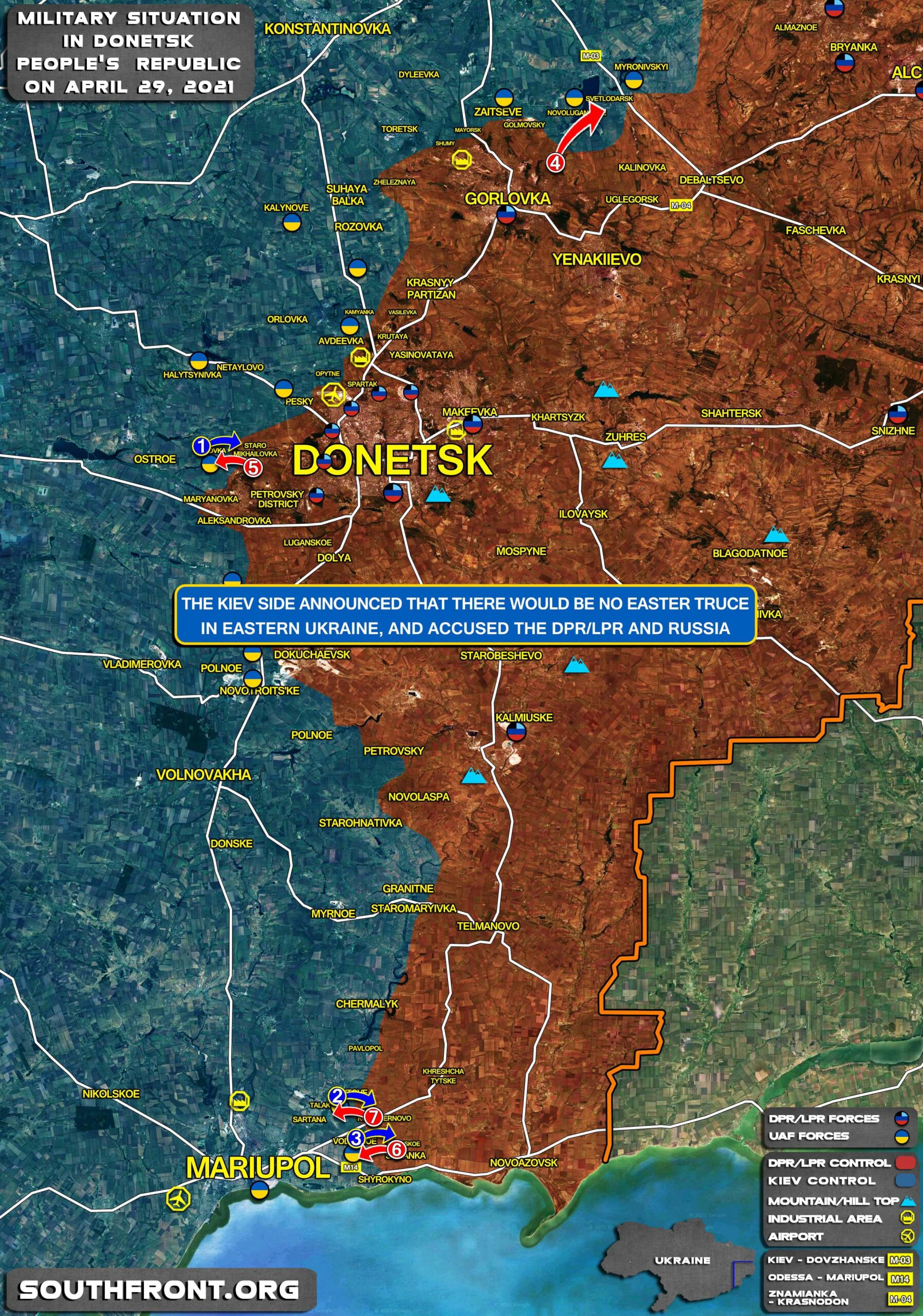 """Peace Talks On Eastern Ukraine Failed To Establish """"Easter Truce"""" In Donbass (Map Update)"""