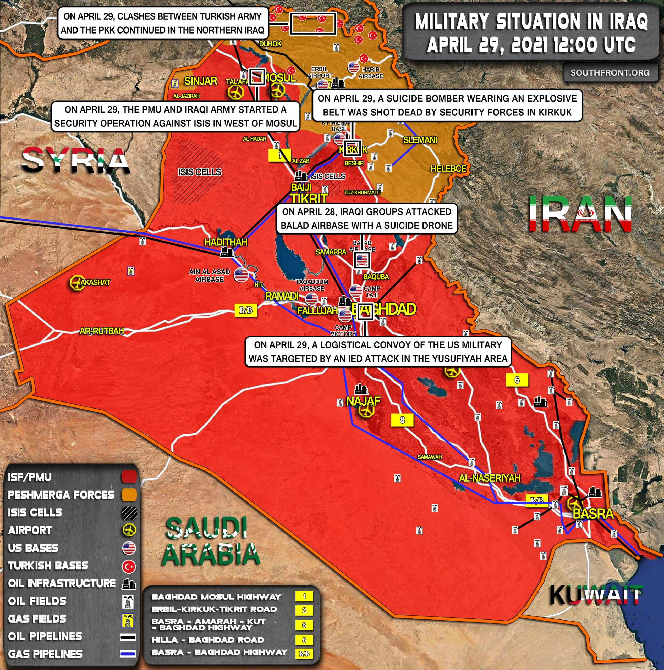 Military Situation In Iraq On April 29, 2021 (Map Update)