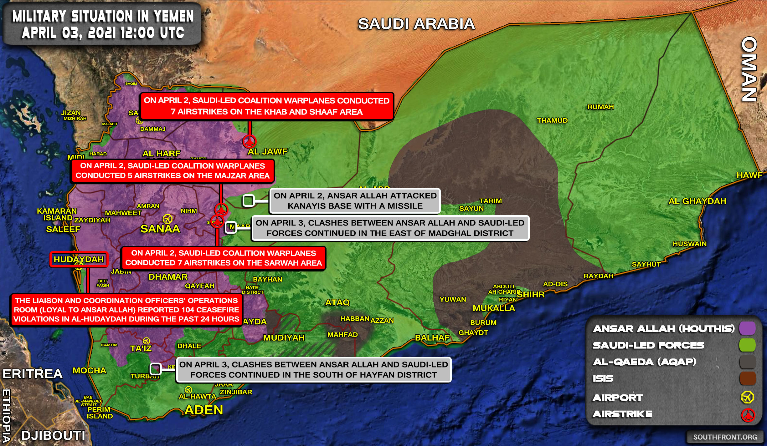 Saudi-led Coalition Keeps Airstriking, As The Houthis Are Unrelenting On All Fronts