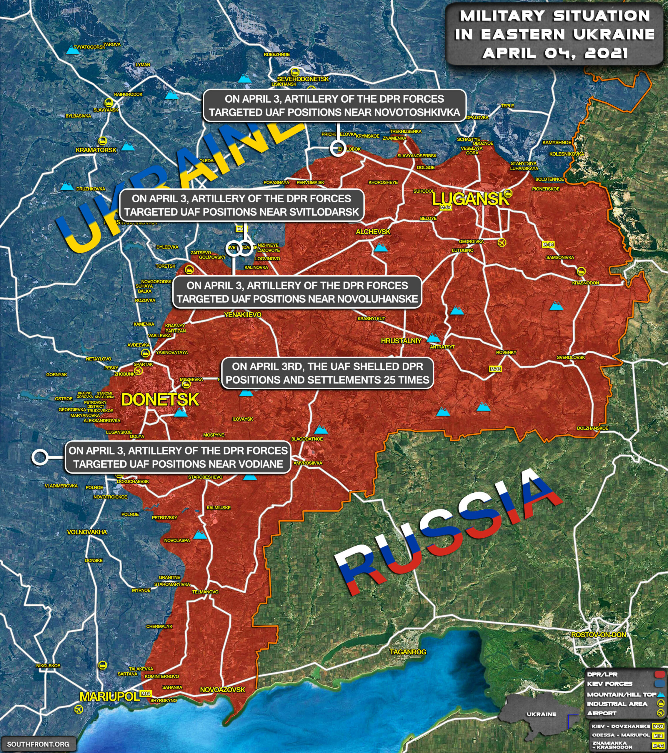 Military Situation In Eastern Ukraine On April 4, 2021 (Map Update)