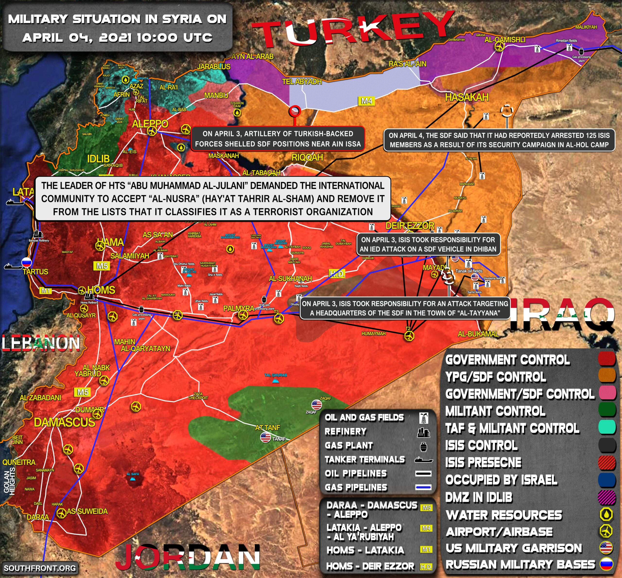 Military Situation In Syria On April 4, 2021 (Map Update)